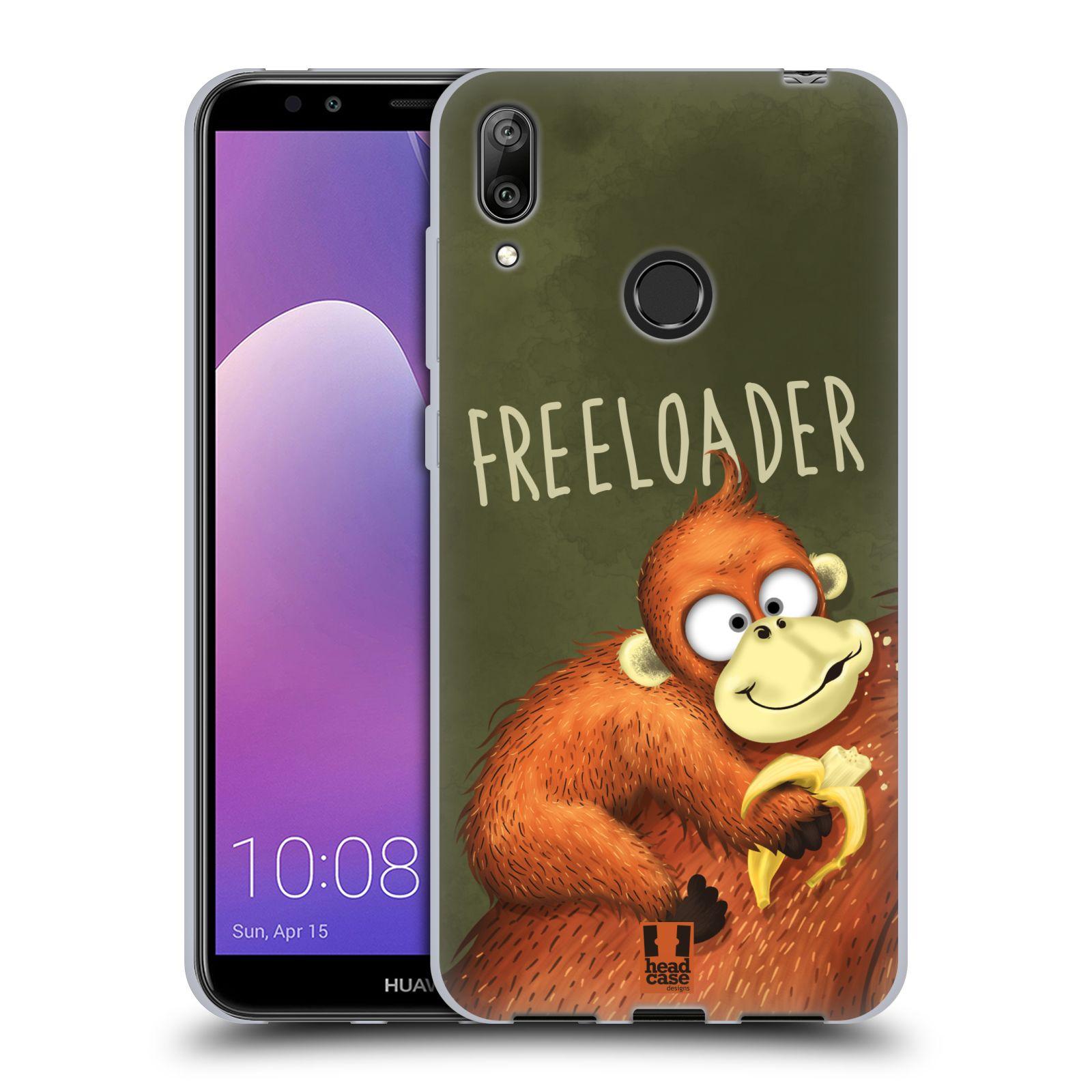 Silikonové pouzdro na mobil Huawei Y7 (2019) - Head Case - Opičák Freeloader