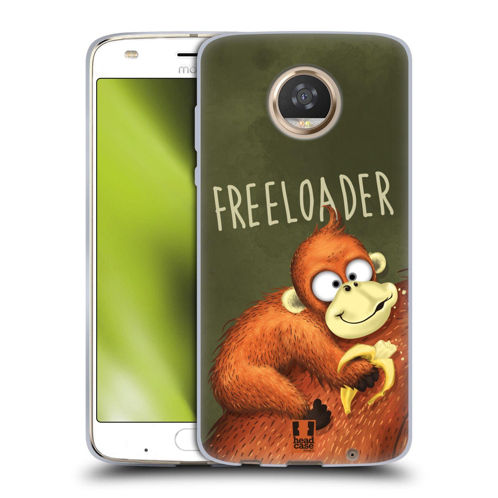 Silikonové pouzdro na mobil Lenovo Moto Z2 Play - Head Case - Opičák Freeloader