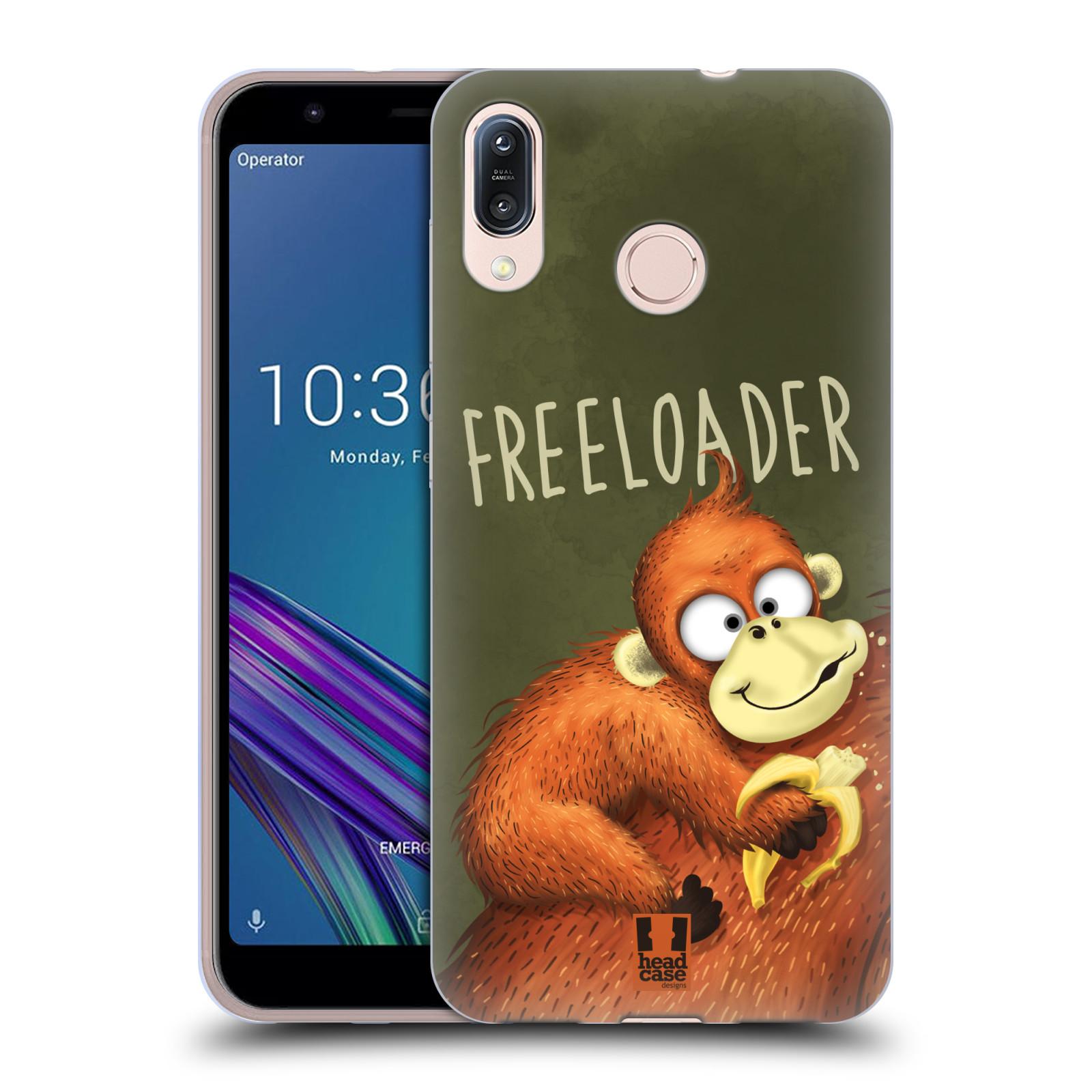 Silikonové pouzdro na mobil Asus Zenfone Max M1 ZB555KL - Head Case - Opičák Freeloader