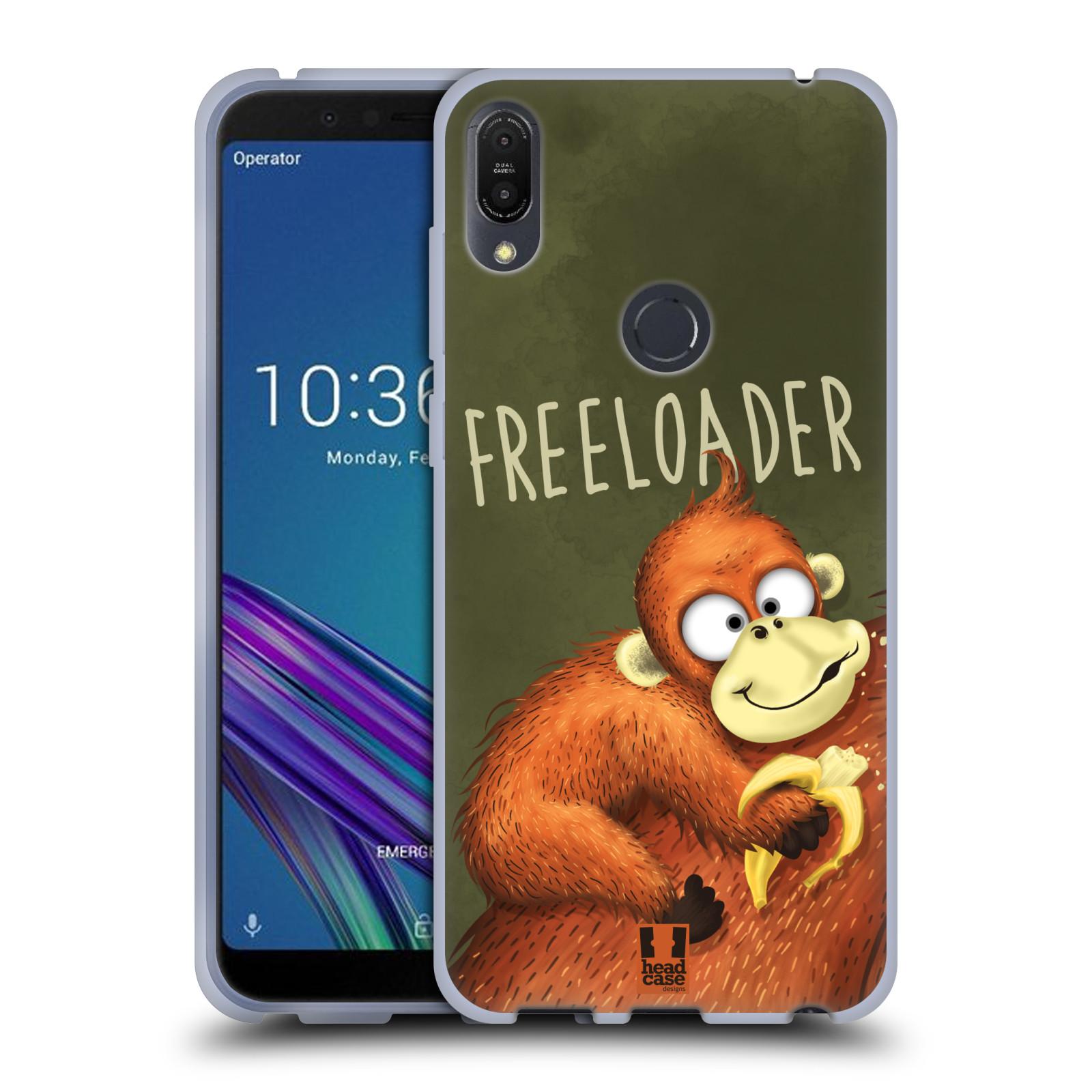 Silikonové pouzdro na mobil Asus ZenFone Max Pro (M1) - Head Case - Opičák Freeloader