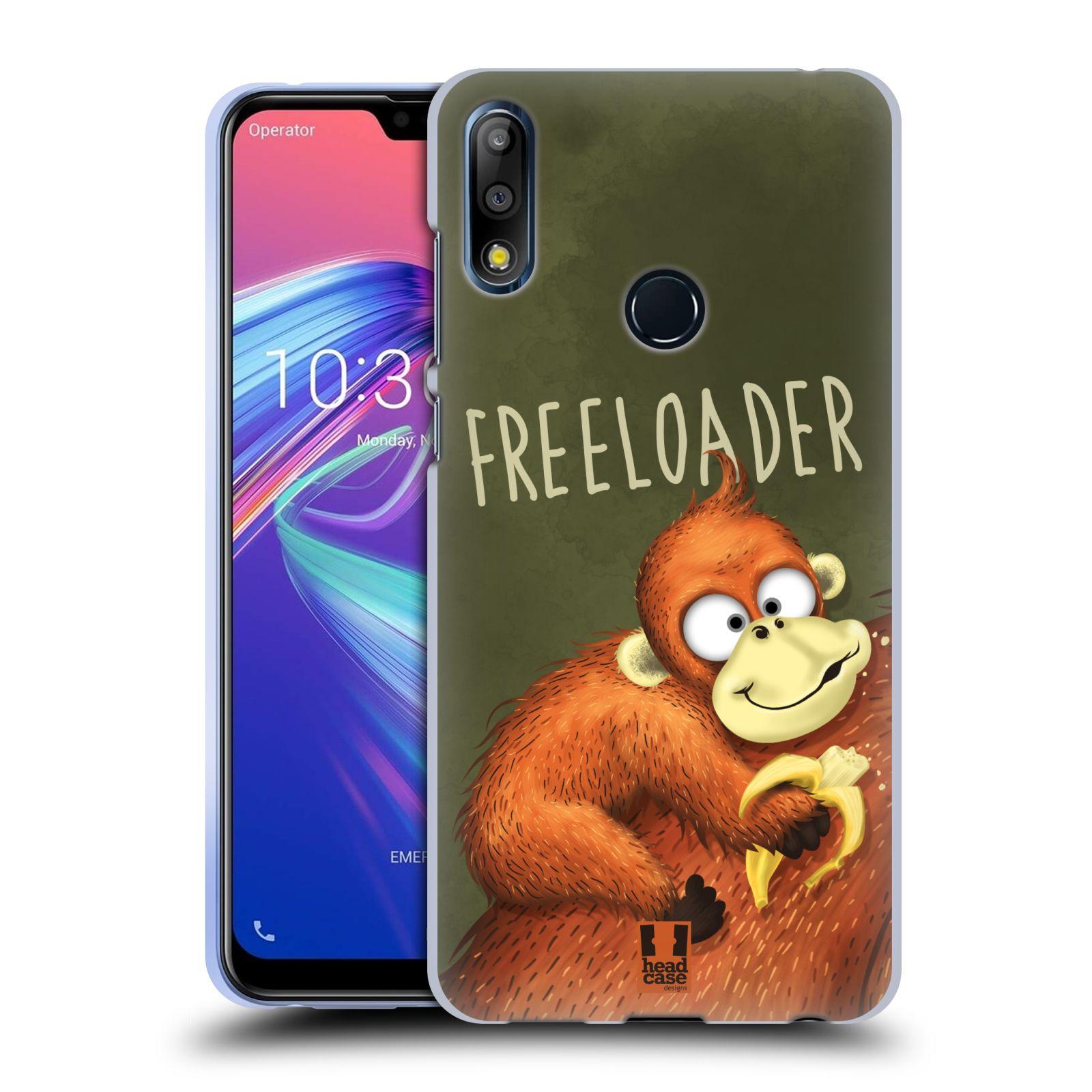 Silikonové pouzdro na mobil Asus Zenfone Max Pro M2 ZB631KL - Head Case - Opičák Freeloader