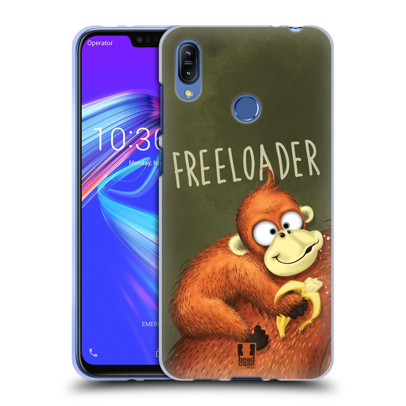Silikonové pouzdro na mobil Asus Zenfone Max (M2) ZB633KL - Head Case - Opičák Freeloader