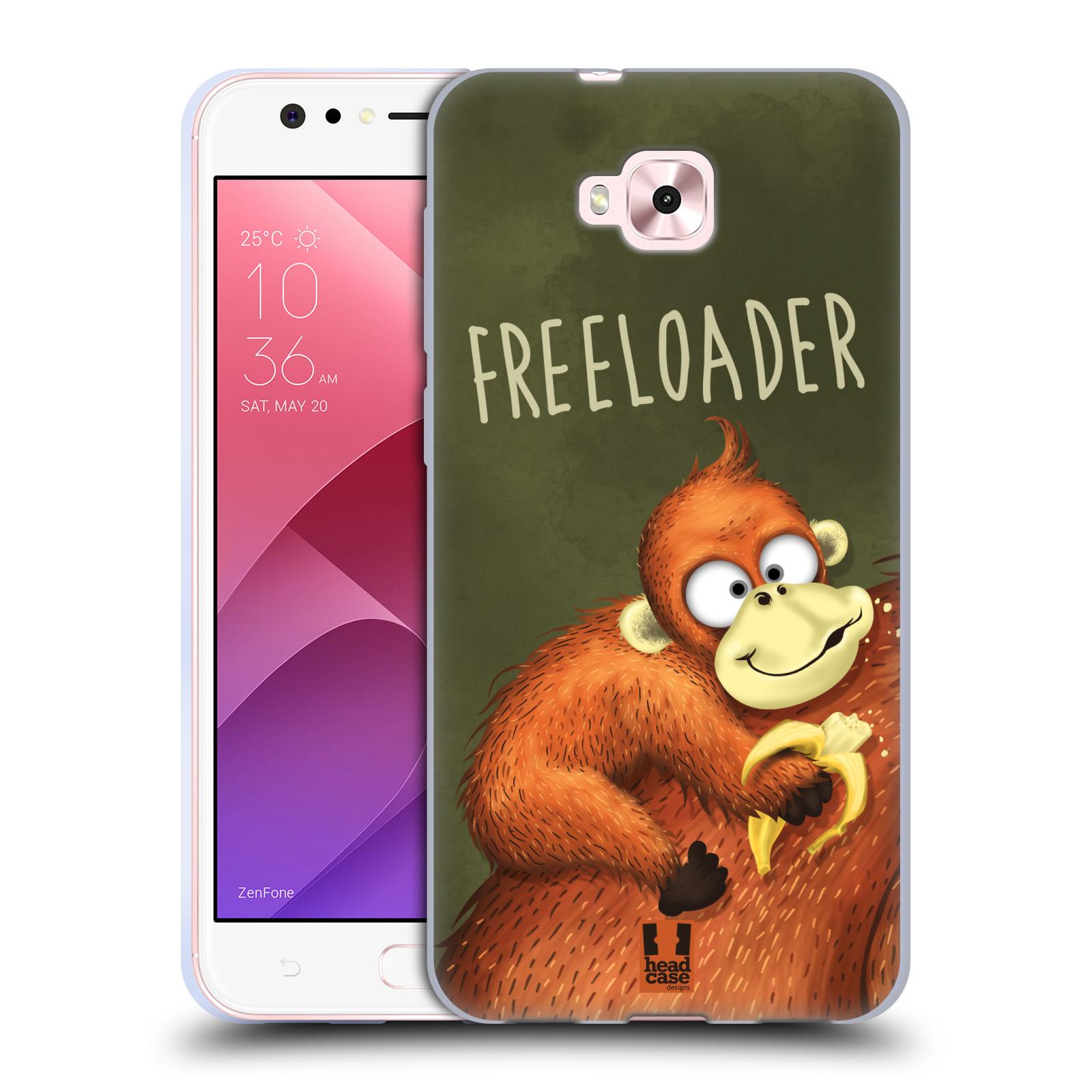 Silikonové pouzdro na mobil Asus Zenfone 4 Selfie ZD553KL - Head Case - Opičák Freeloader