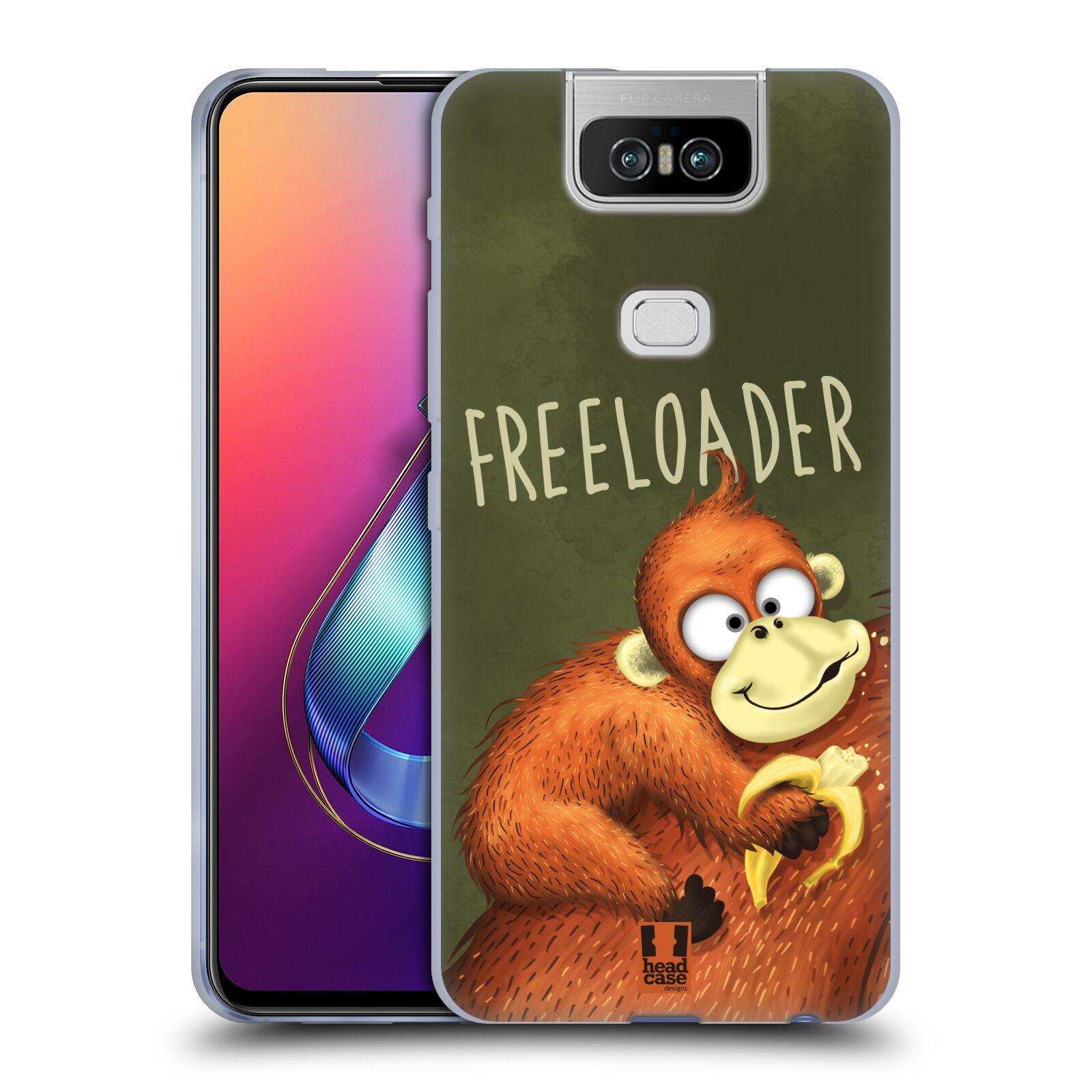 Silikonové pouzdro na mobil Asus Zenfone 6 ZS630KL - Head Case - Opičák Freeloader