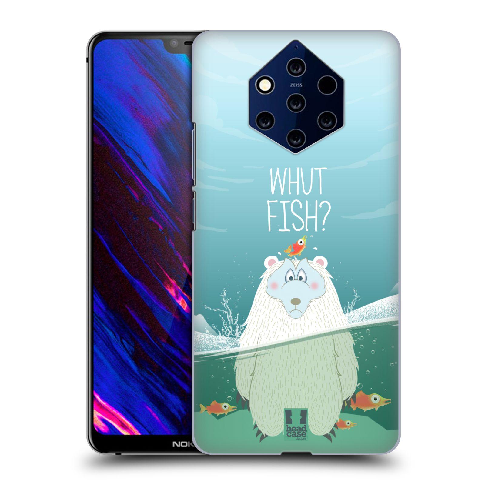 Plastové pouzdro na mobil Nokia 9 PureView - Head Case - Medvěd Whut Fish?