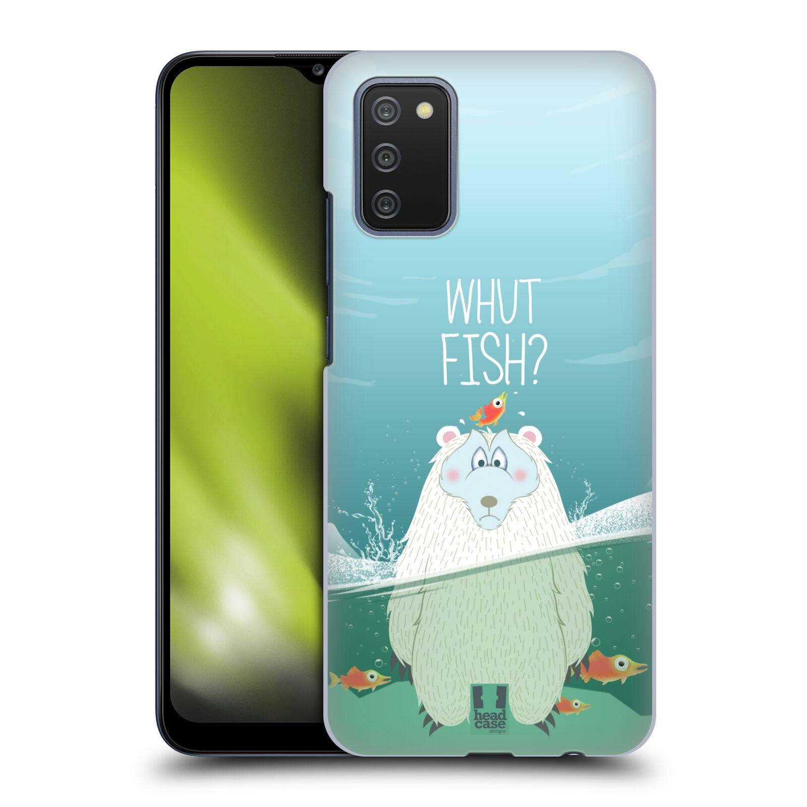 Plastové pouzdro na mobil Samsung Galaxy A02s - Head Case - Medvěd Whut Fish?