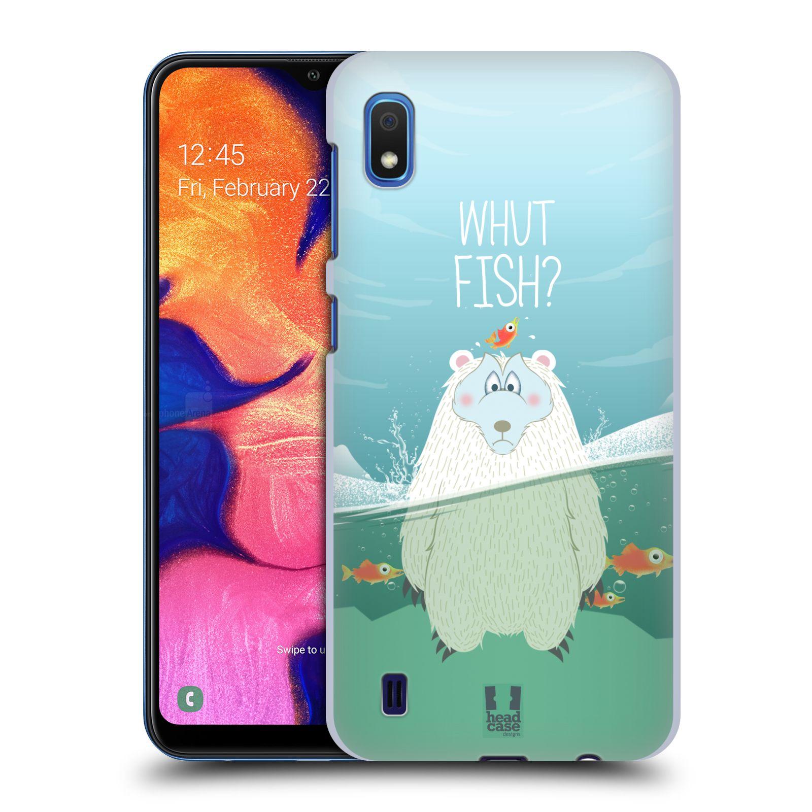 Plastové pouzdro na mobil Samsung Galaxy A10 - Head Case - Medvěd Whut Fish?