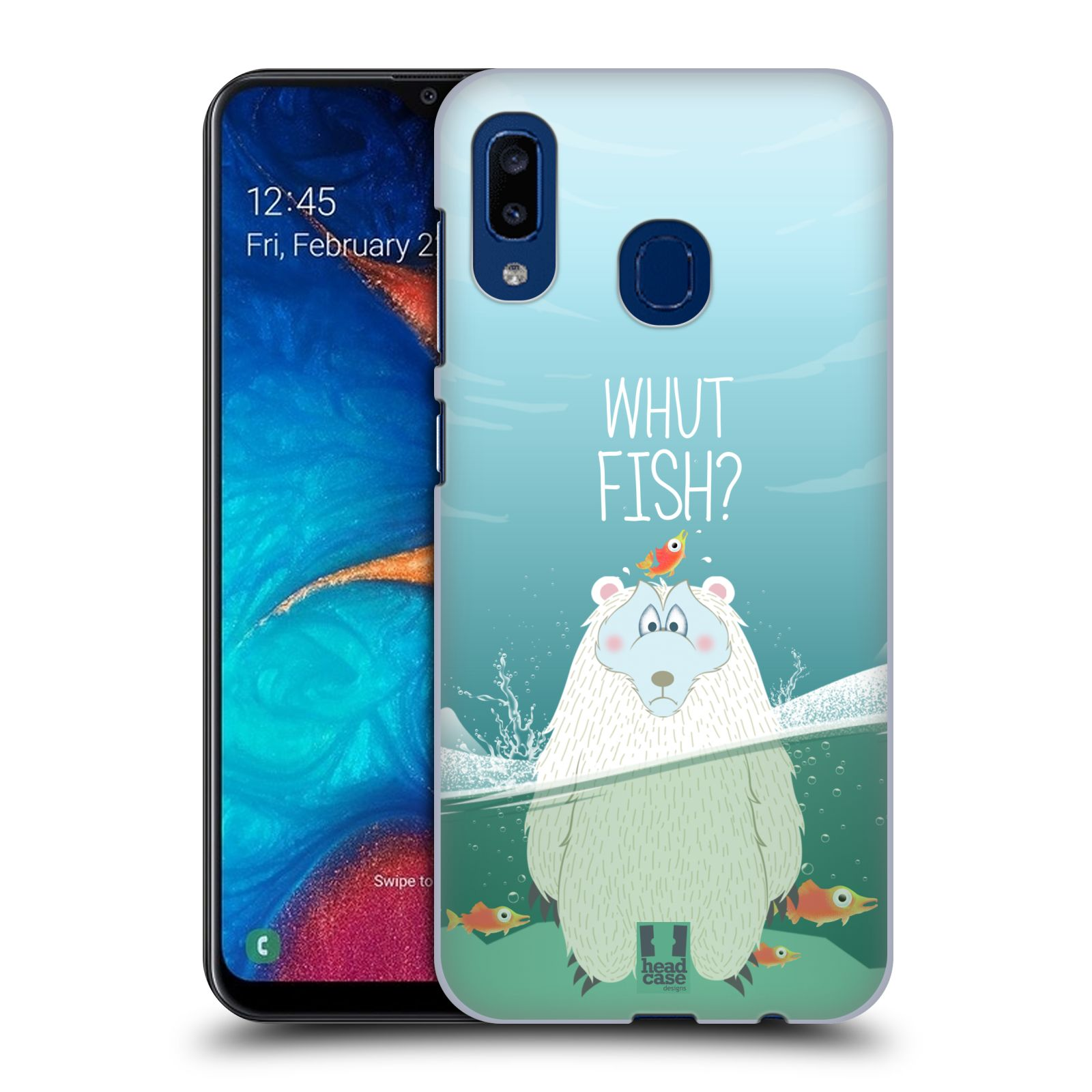 Plastové pouzdro na mobil Samsung Galaxy A20 - Head Case - Medvěd Whut Fish?