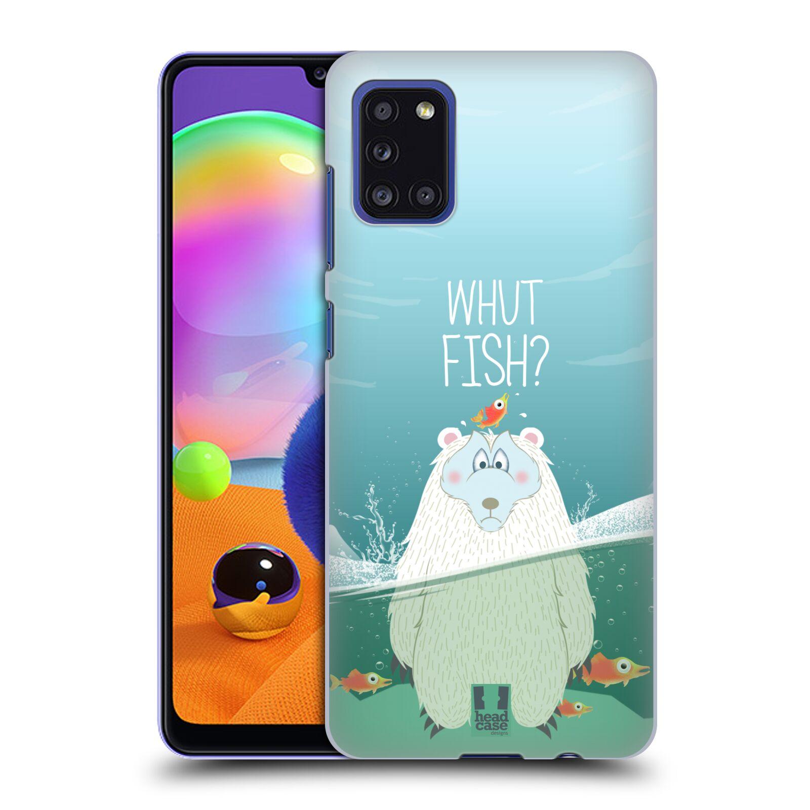 Plastové pouzdro na mobil Samsung Galaxy A31 - Head Case - Medvěd Whut Fish?