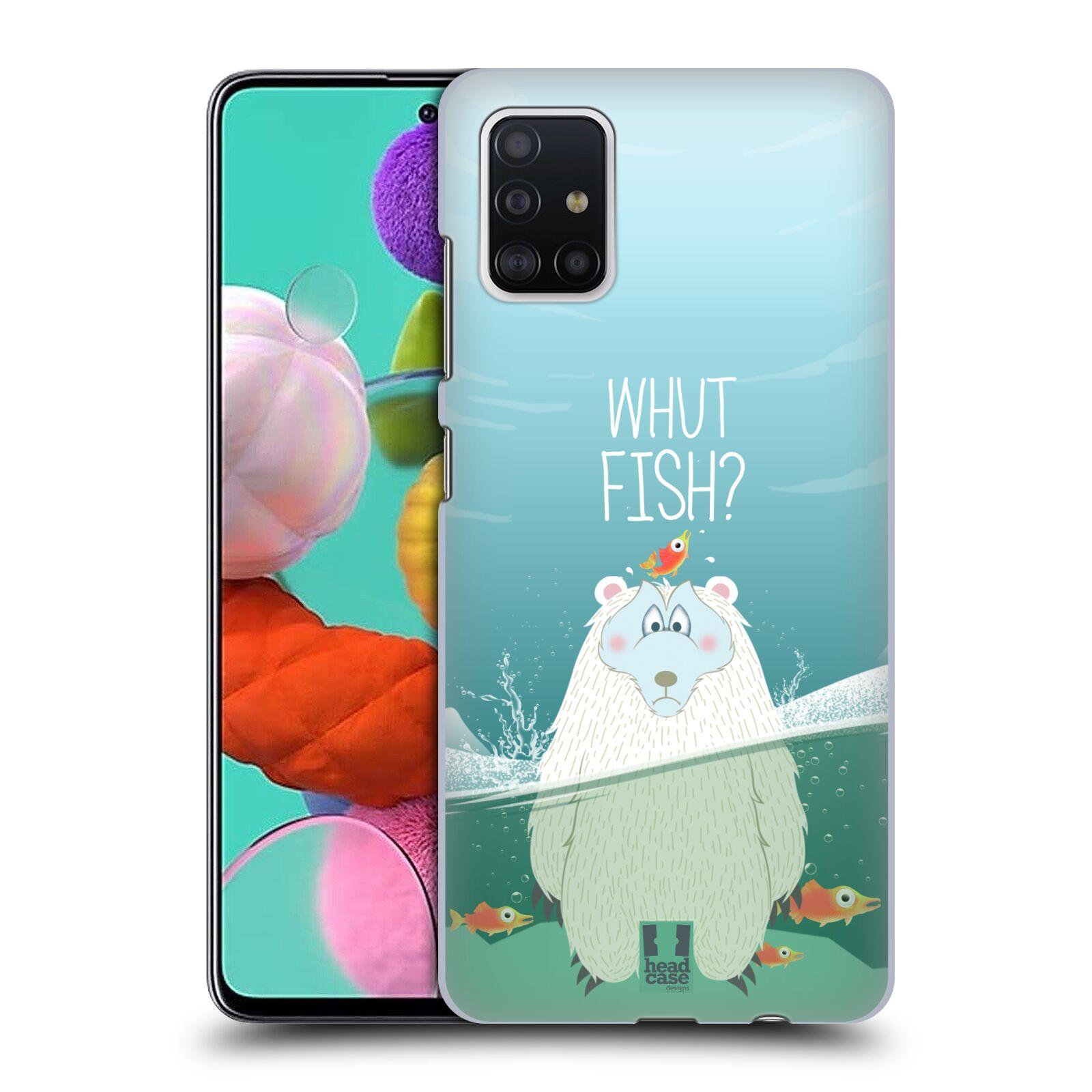 Plastové pouzdro na mobil Samsung Galaxy A51 - Head Case - Medvěd Whut Fish?