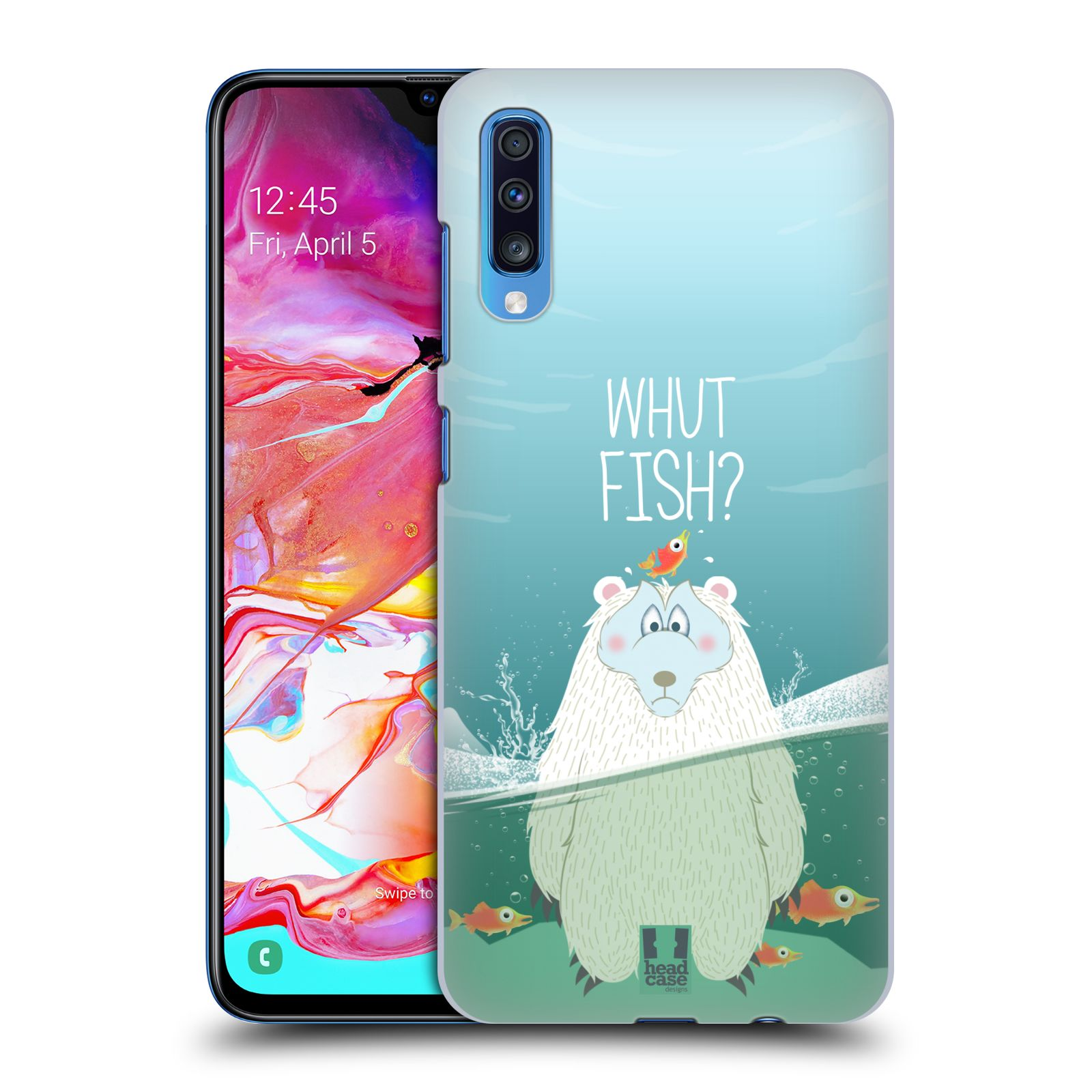Plastové pouzdro na mobil Samsung Galaxy A70 - Head Case - Medvěd Whut Fish?