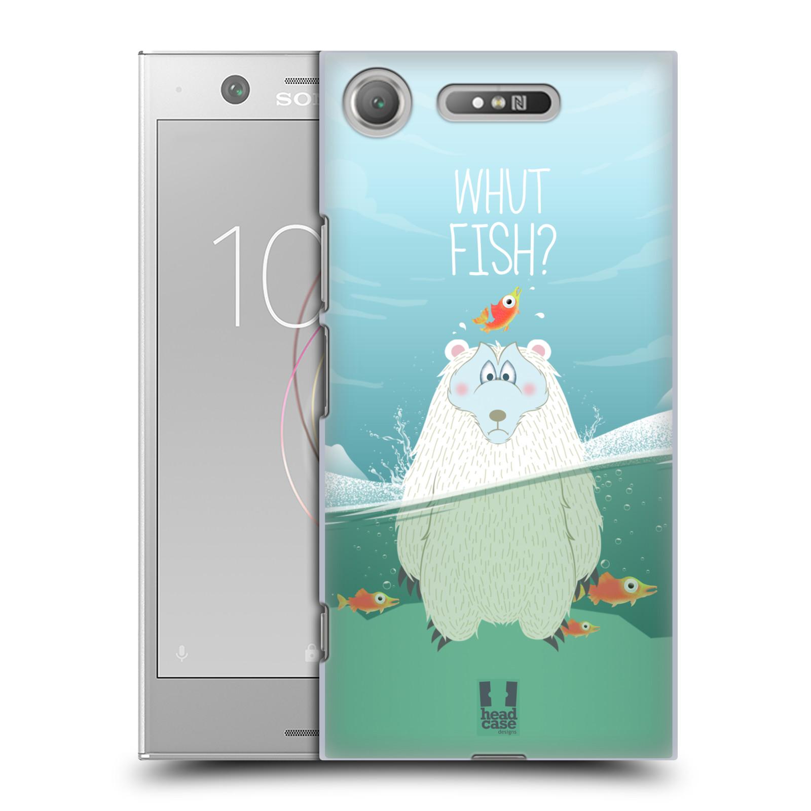 Plastové pouzdro na mobil Sony Xperia XZ1 - Head Case - Medvěd Whut Fish?