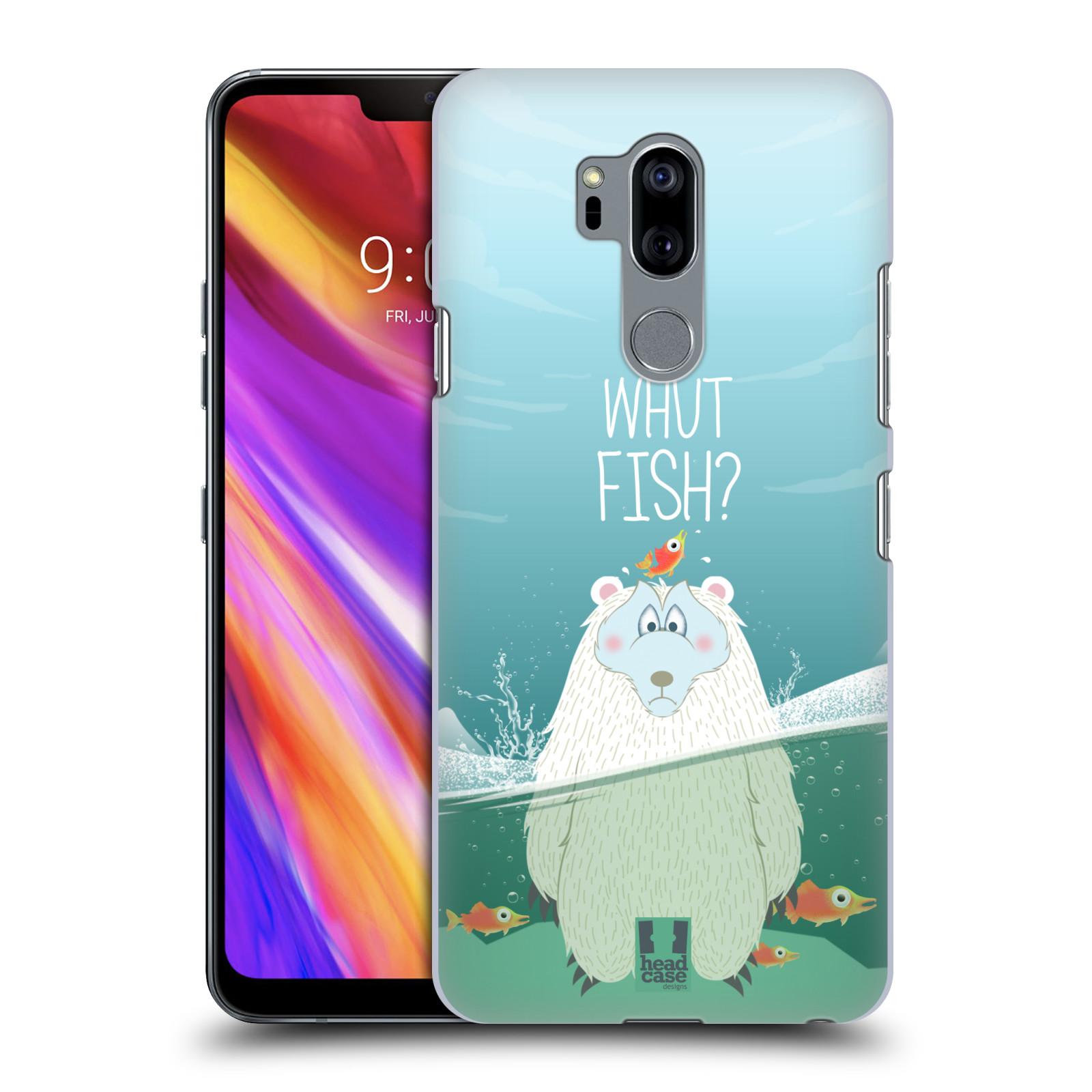 Plastové pouzdro na mobil LG G7 ThinQ - Head Case - Medvěd Whut Fish?