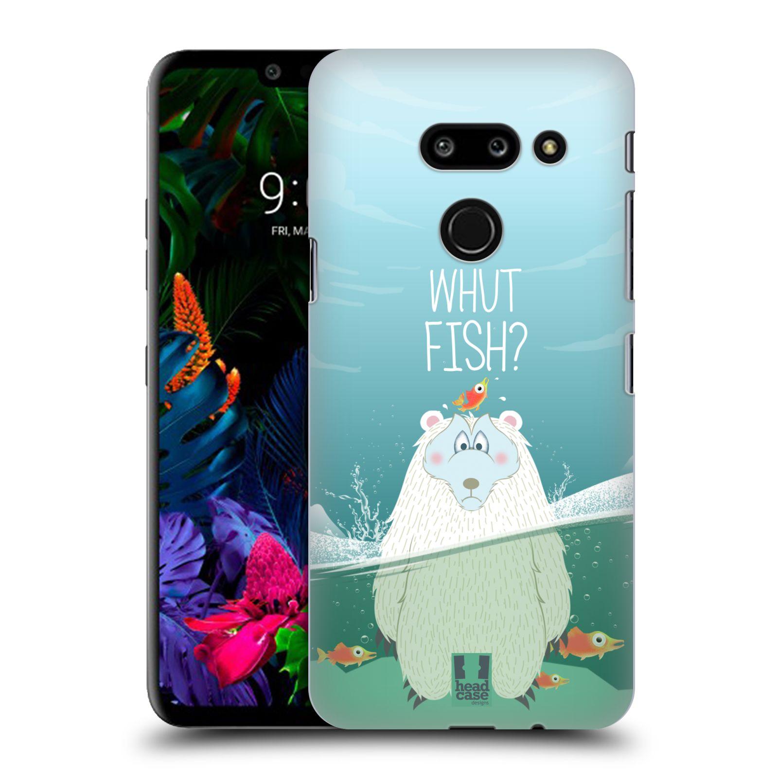Plastové pouzdro na mobil LG G8 ThinQ - Head Case - Medvěd Whut Fish?