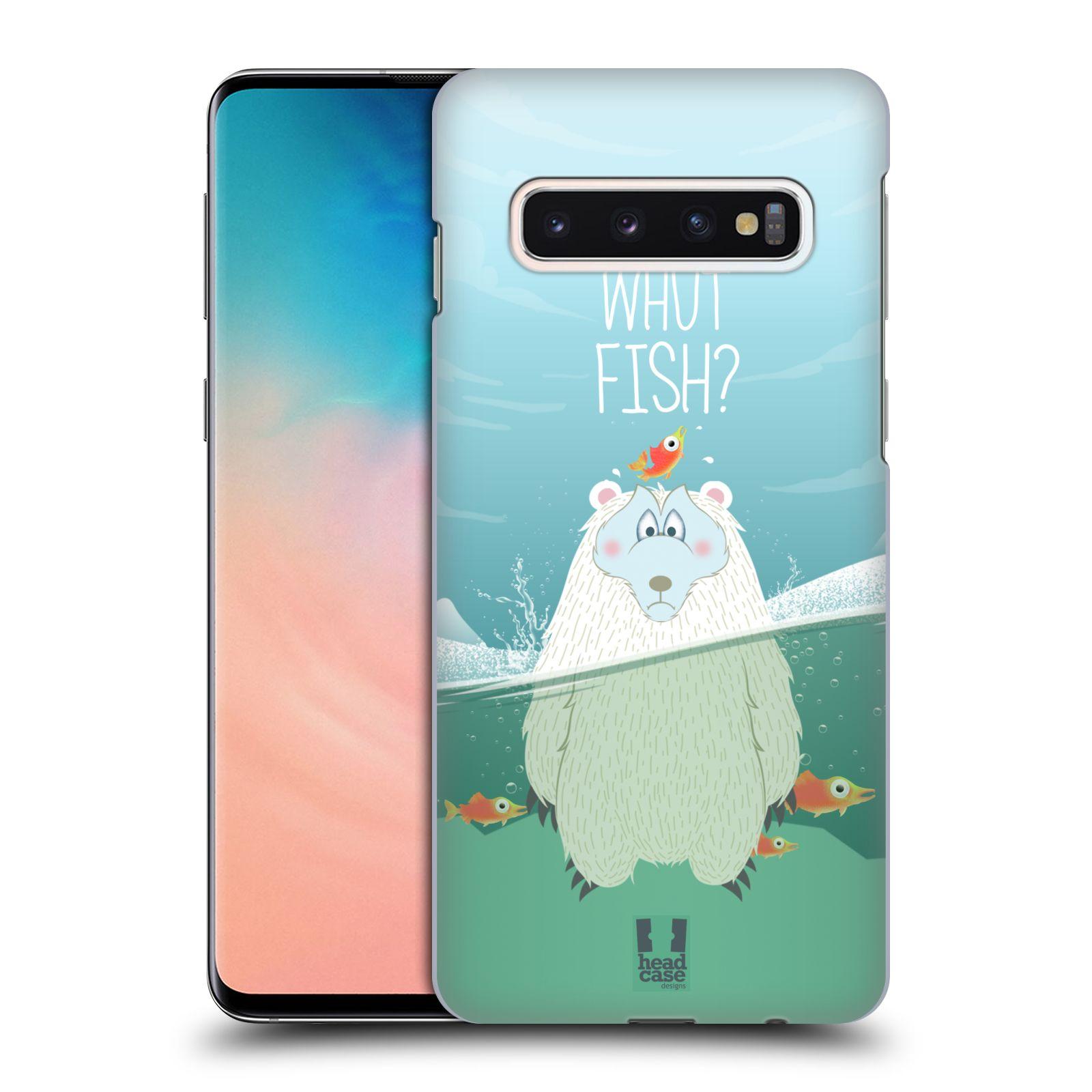 Plastové pouzdro na mobil Samsung Galaxy S10 - Head Case - Medvěd Whut Fish?