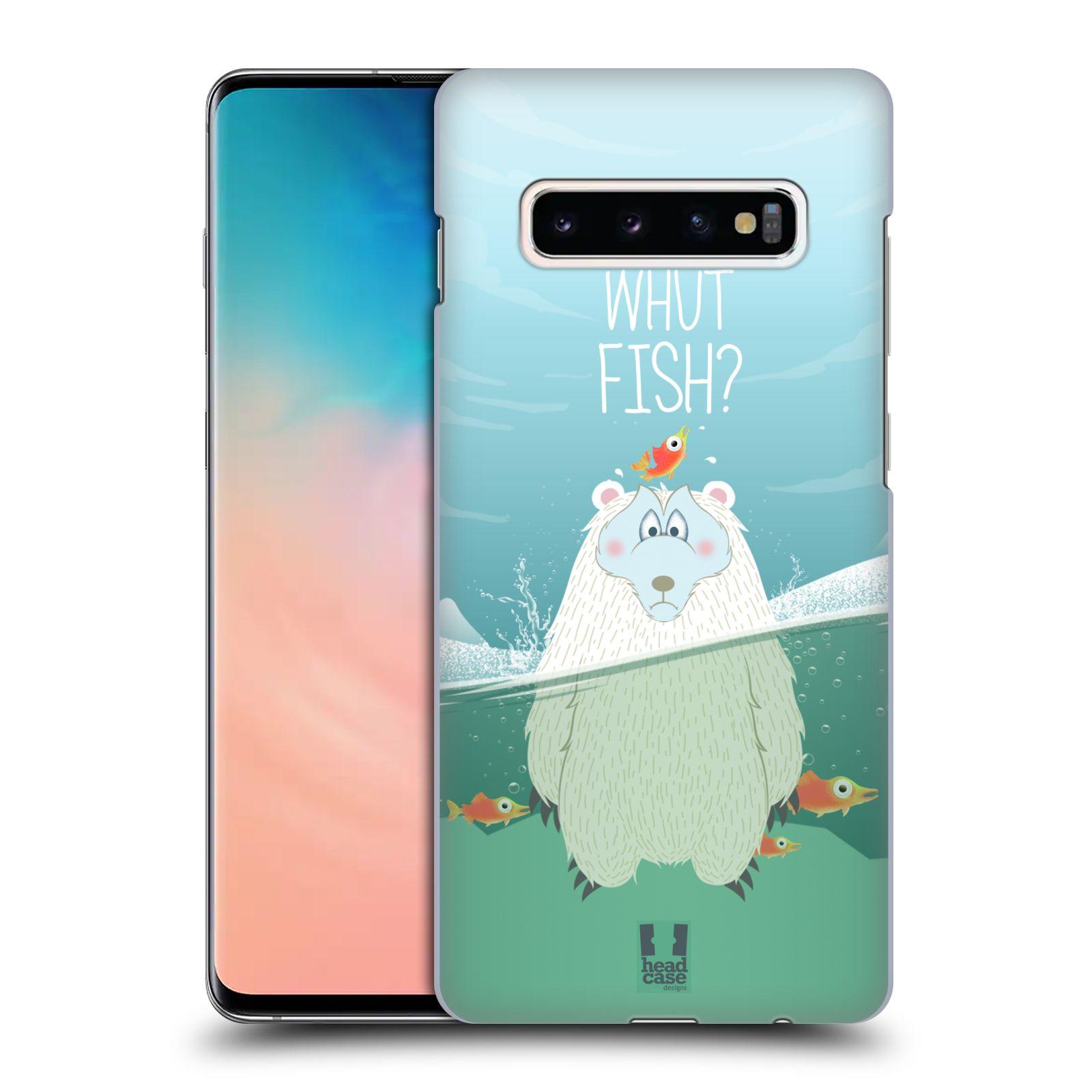 Plastové pouzdro na mobil Samsung Galaxy S10 Plus - Head Case - Medvěd Whut Fish?