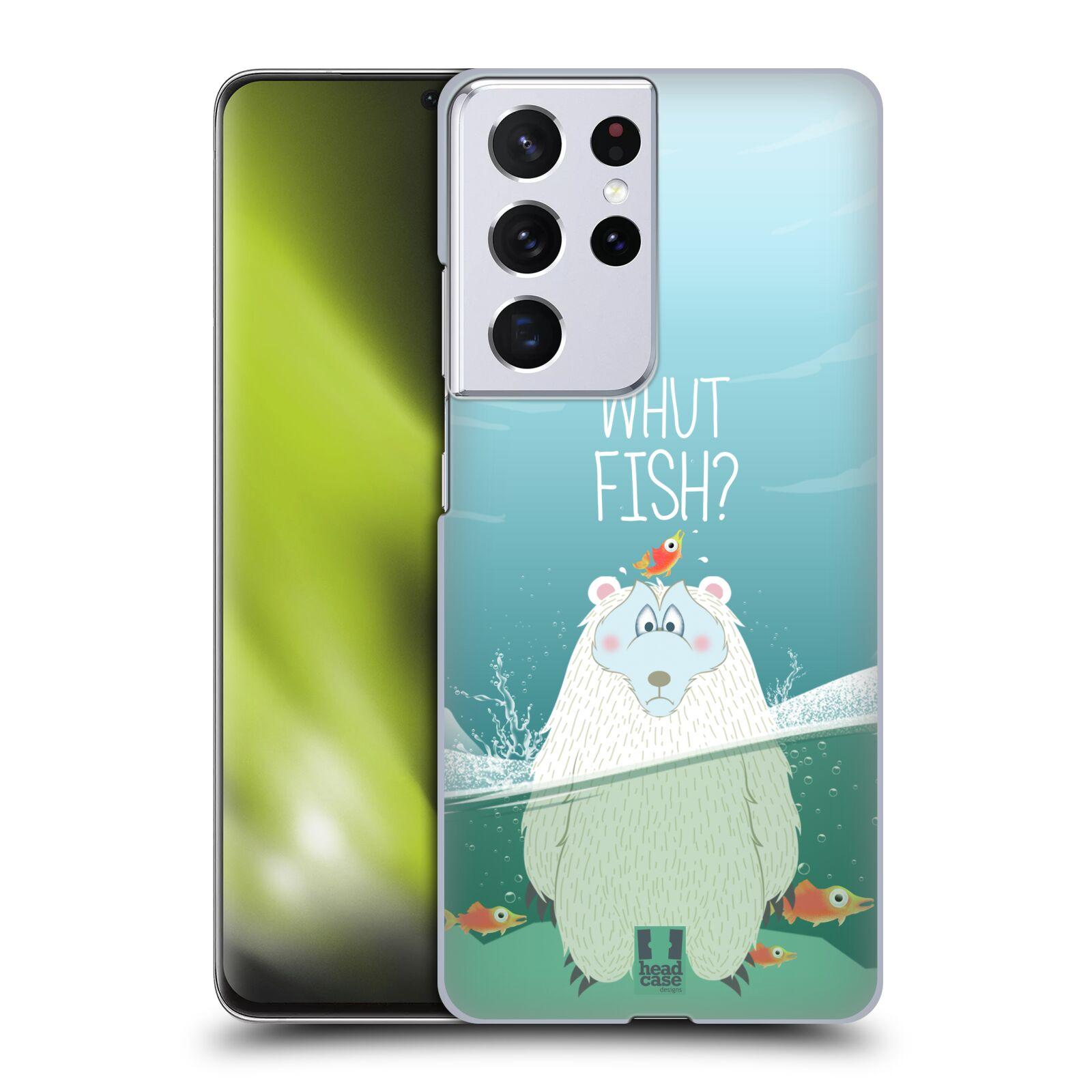 Plastové pouzdro na mobil Samsung Galaxy S21 Ultra 5G - Head Case - Medvěd Whut Fish?