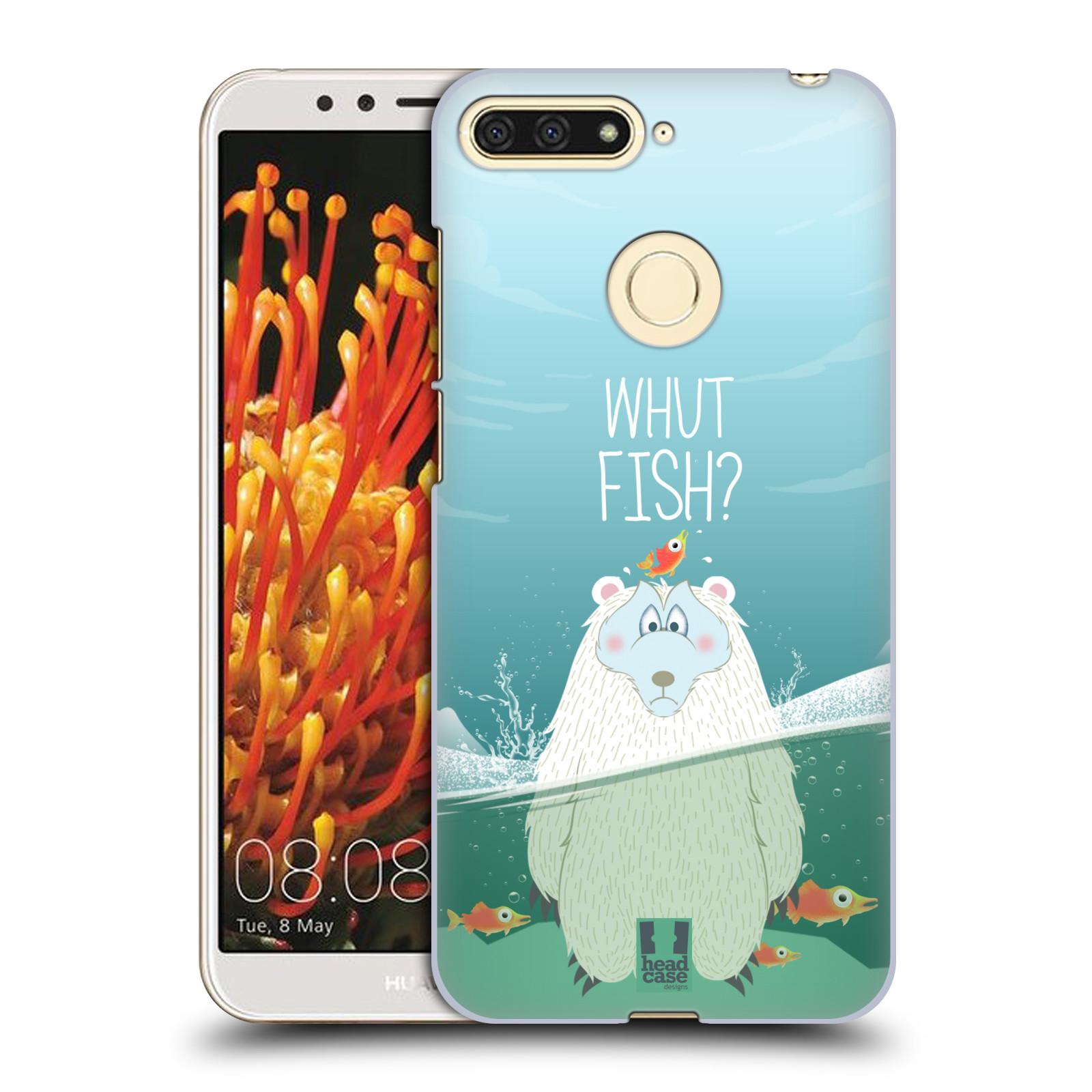 Plastové pouzdro na mobil Huawei Y6 Prime 2018 - Head Case - Medvěd Whut Fish?