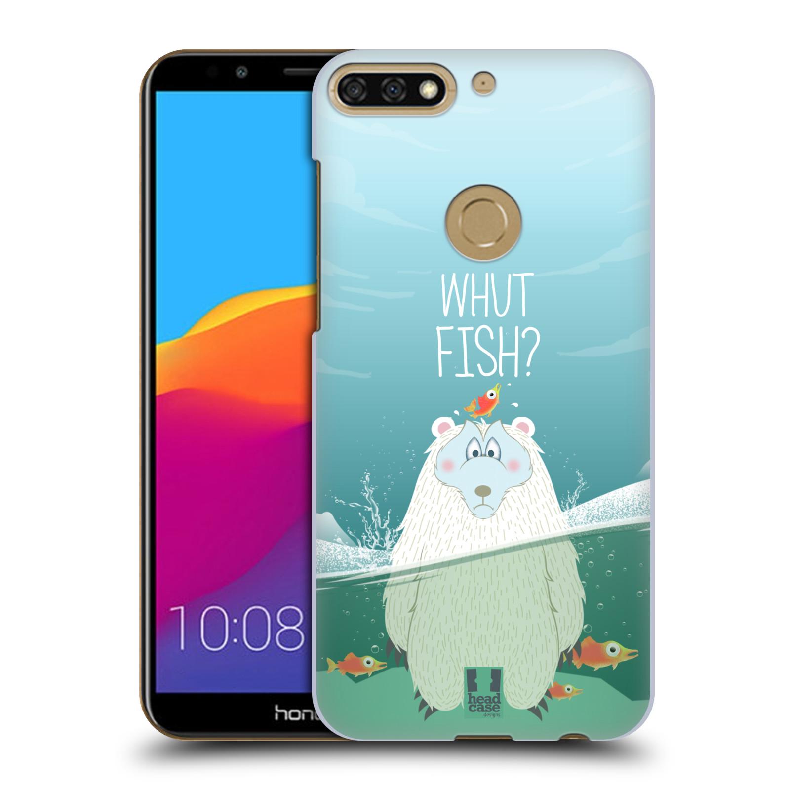Plastové pouzdro na mobil Huawei Y7 Prime 2018 - Head Case - Medvěd Whut Fish?