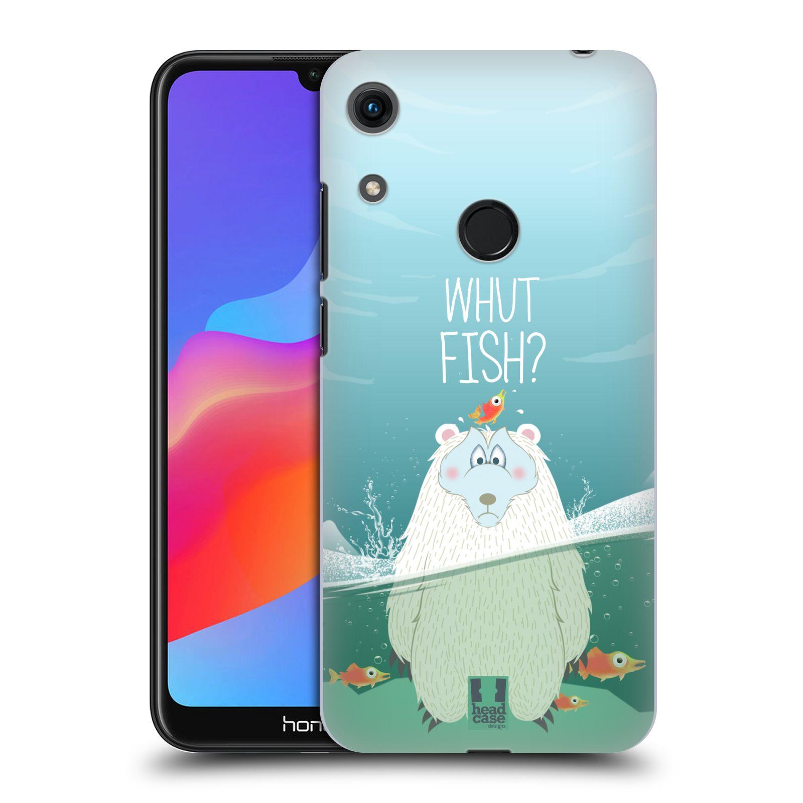 Plastové pouzdro na mobil Honor 8A - Head Case - Medvěd Whut Fish?