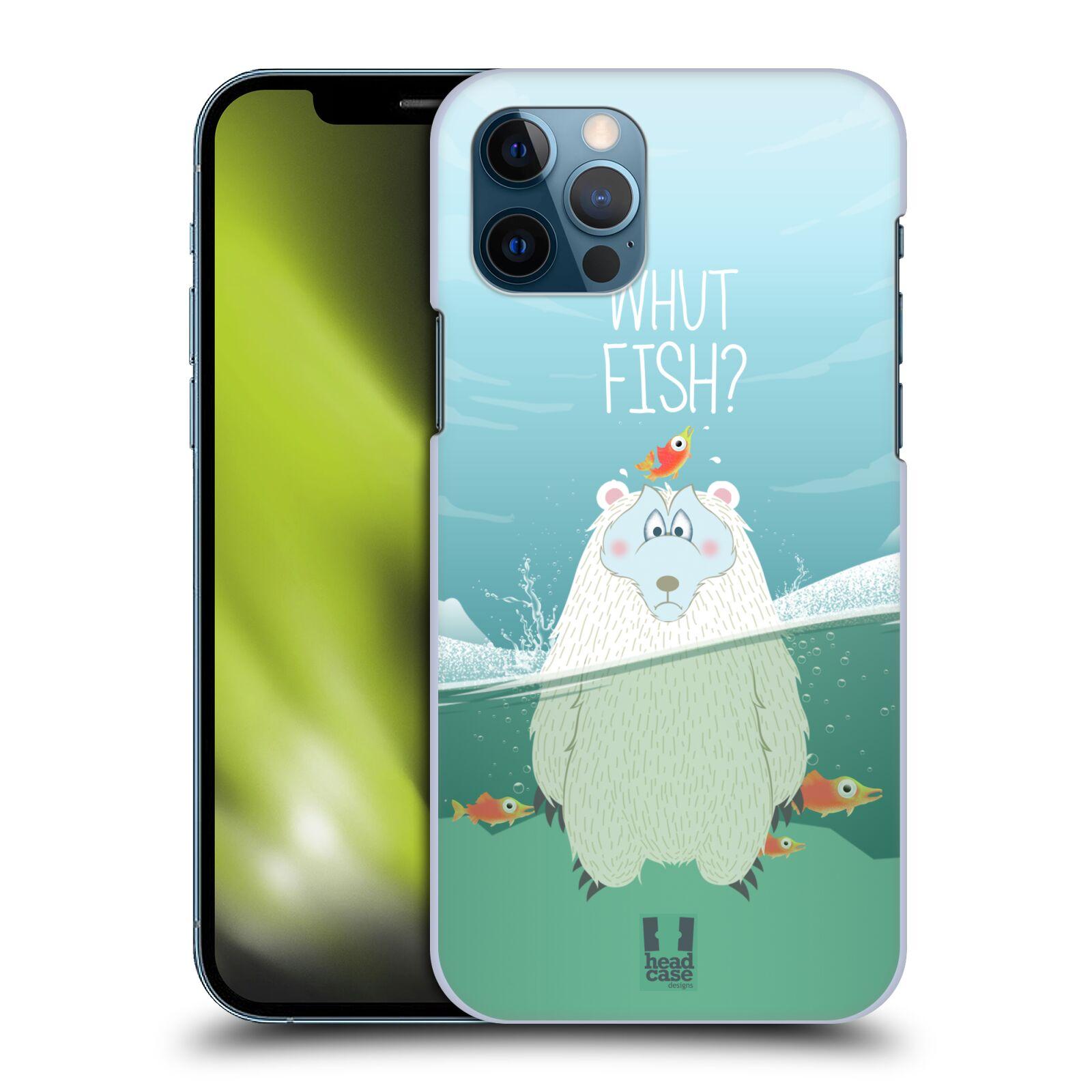 Plastové pouzdro na mobil Apple iPhone 12 / 12 Pro - Head Case - Medvěd Whut Fish?