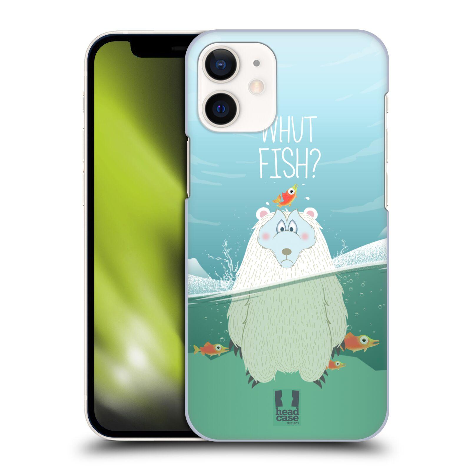 Plastové pouzdro na mobil Apple iPhone 12 Mini - Head Case - Medvěd Whut Fish?