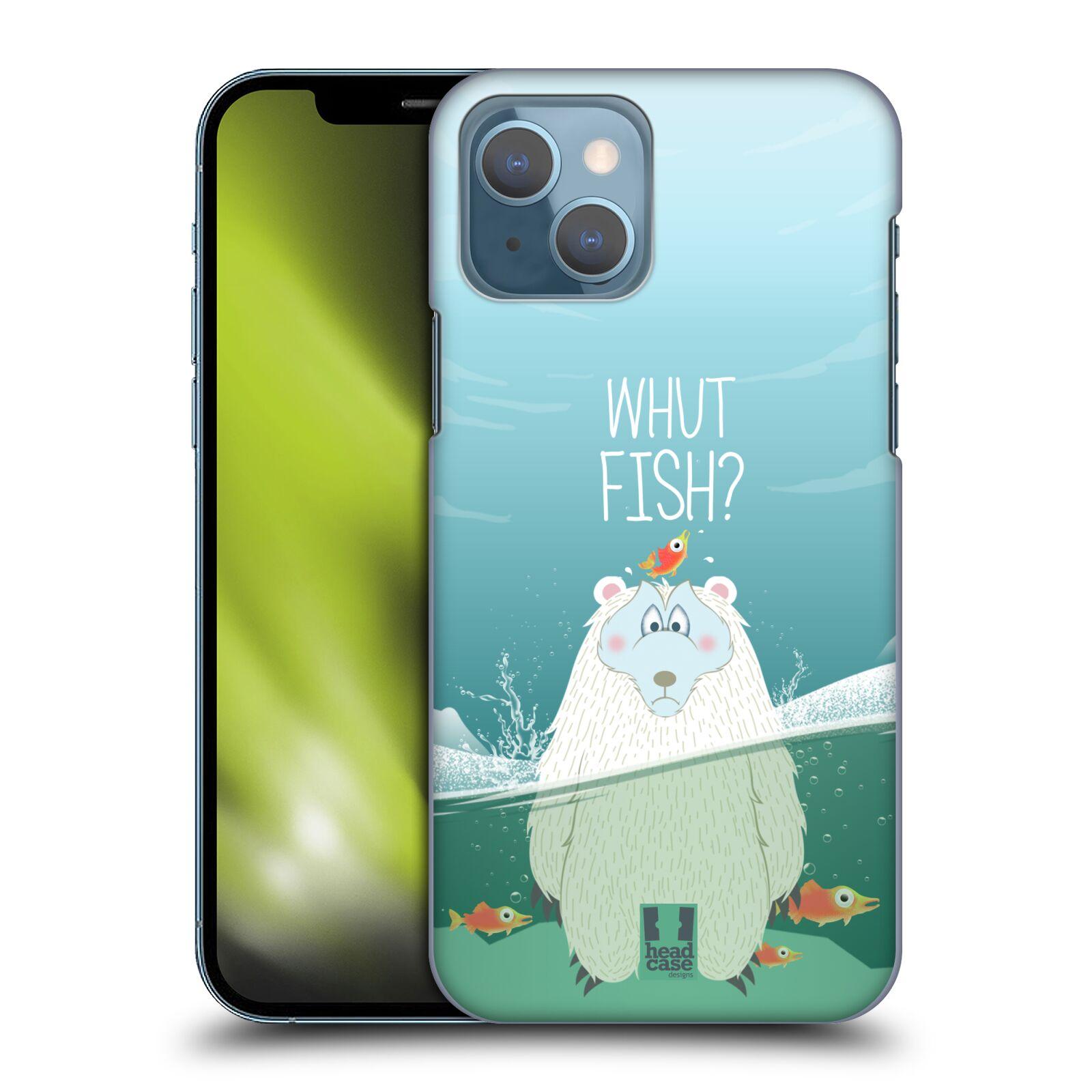 Plastové pouzdro na mobil Apple iPhone 13 - Head Case - Medvěd Whut Fish?
