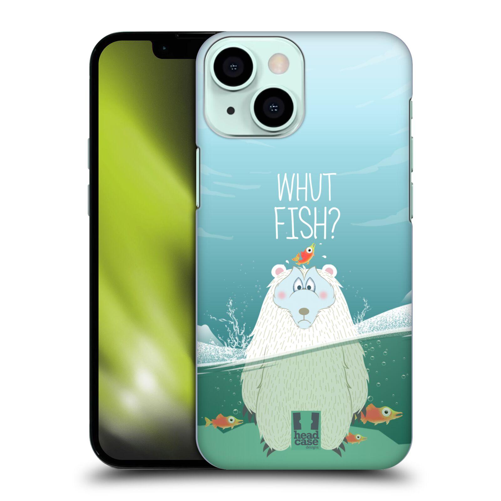 Plastové pouzdro na mobil Apple iPhone 13 Mini - Head Case - Medvěd Whut Fish?