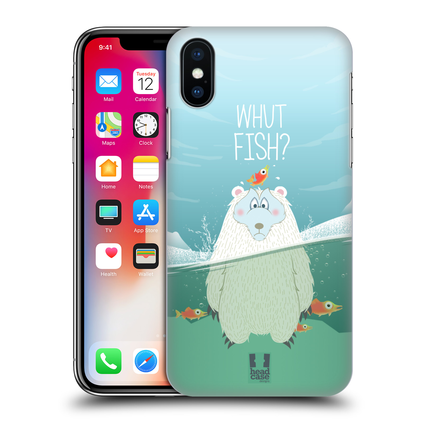 Plastové pouzdro na mobil Apple iPhone X - Head Case - Medvěd Whut Fish?