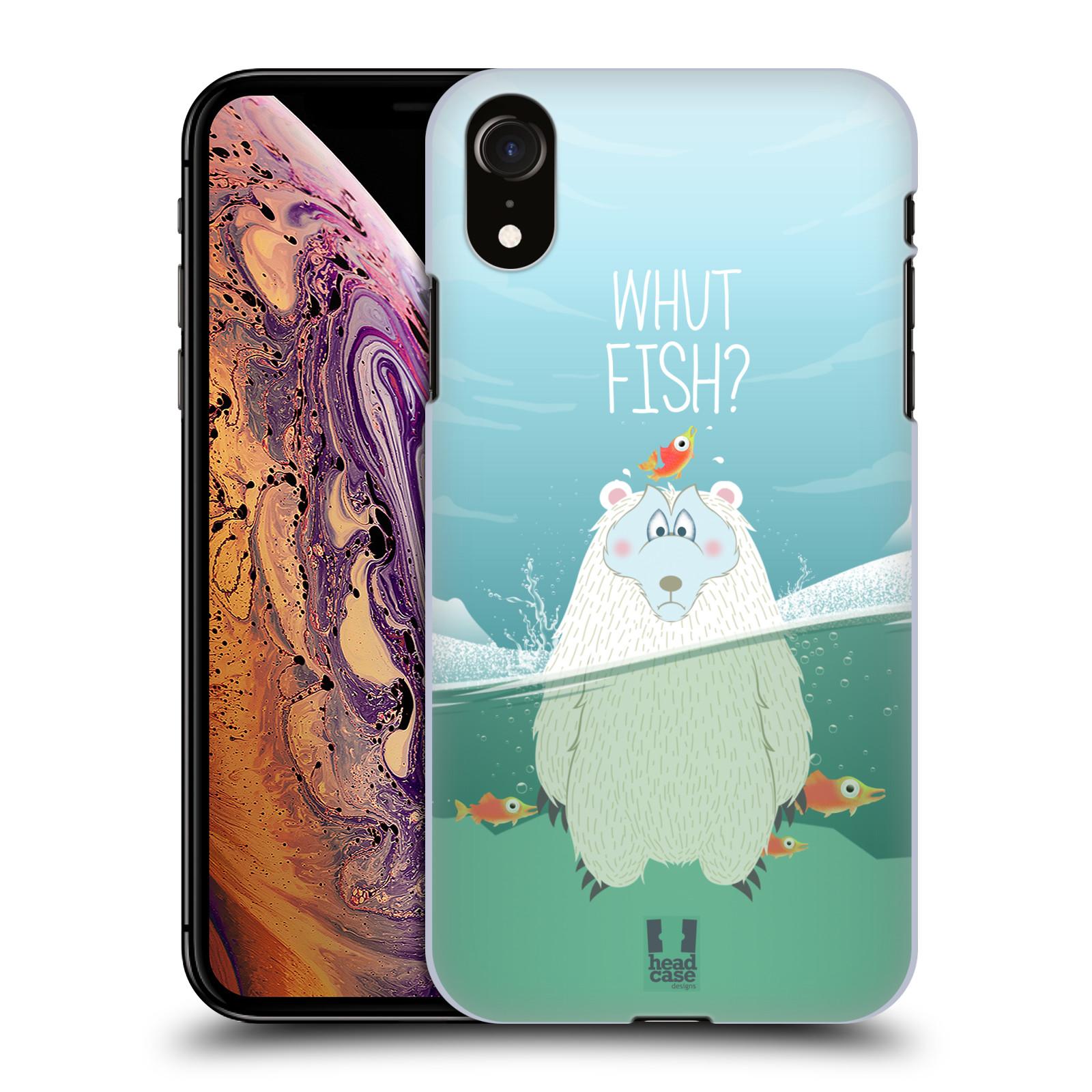 Plastové pouzdro na mobil Apple iPhone XR - Head Case - Medvěd Whut Fish?