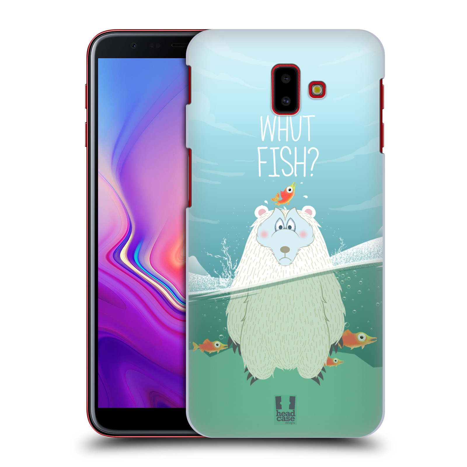 Plastové pouzdro na mobil Samsung Galaxy J6 Plus - Head Case - Medvěd Whut Fish?