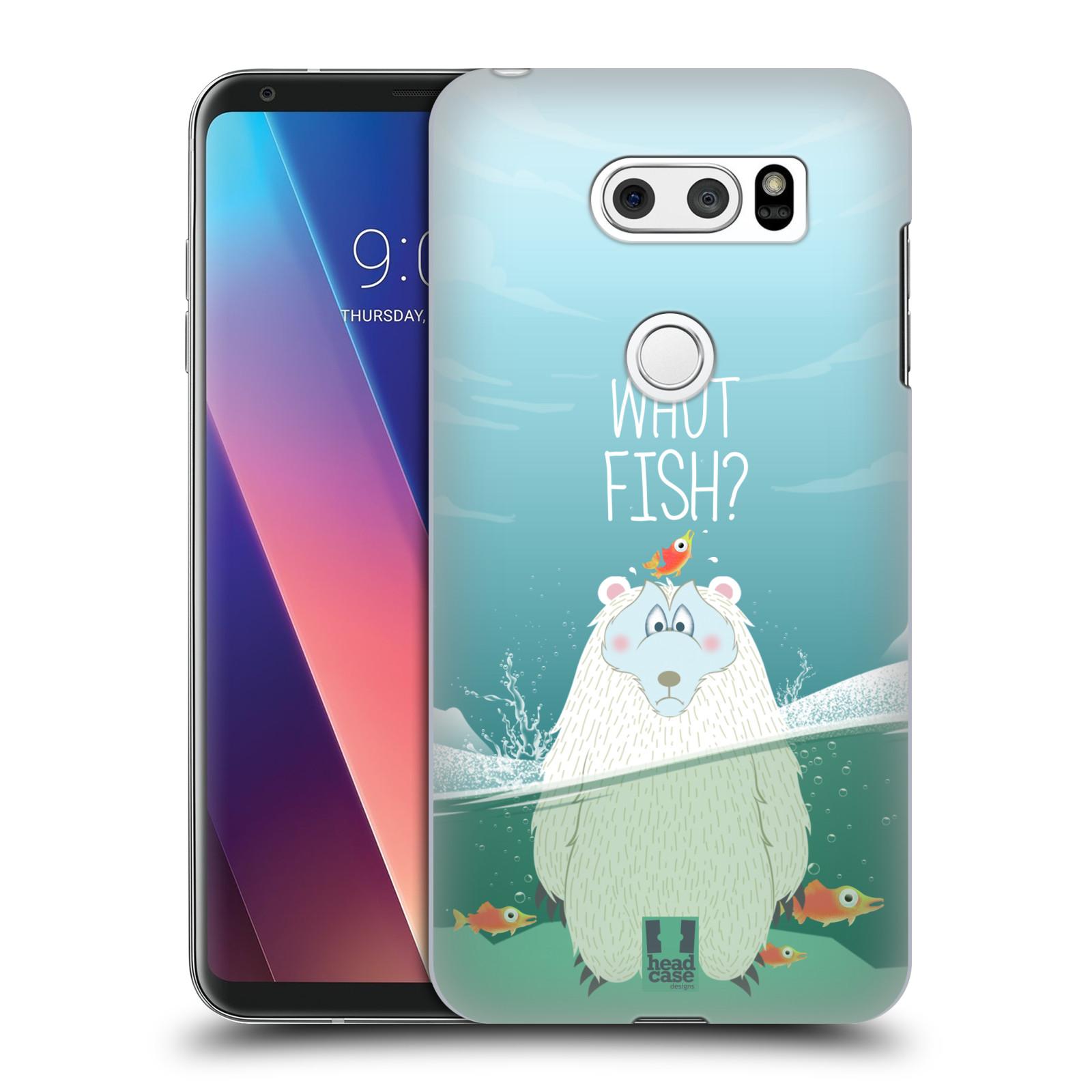 Plastové pouzdro na mobil LG V30 - Head Case - Medvěd Whut Fish?
