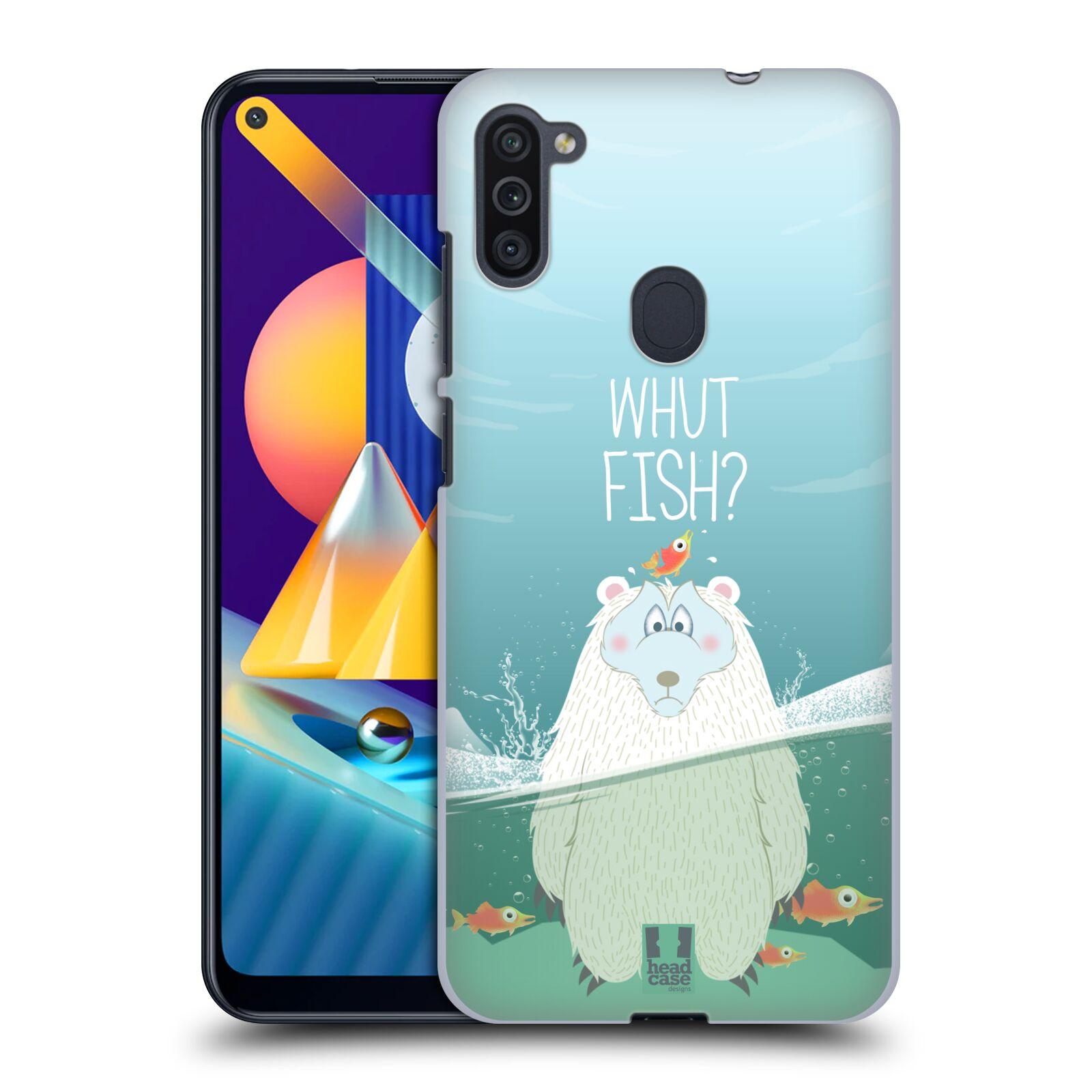 Plastové pouzdro na mobil Samsung Galaxy M11 - Head Case - Medvěd Whut Fish?