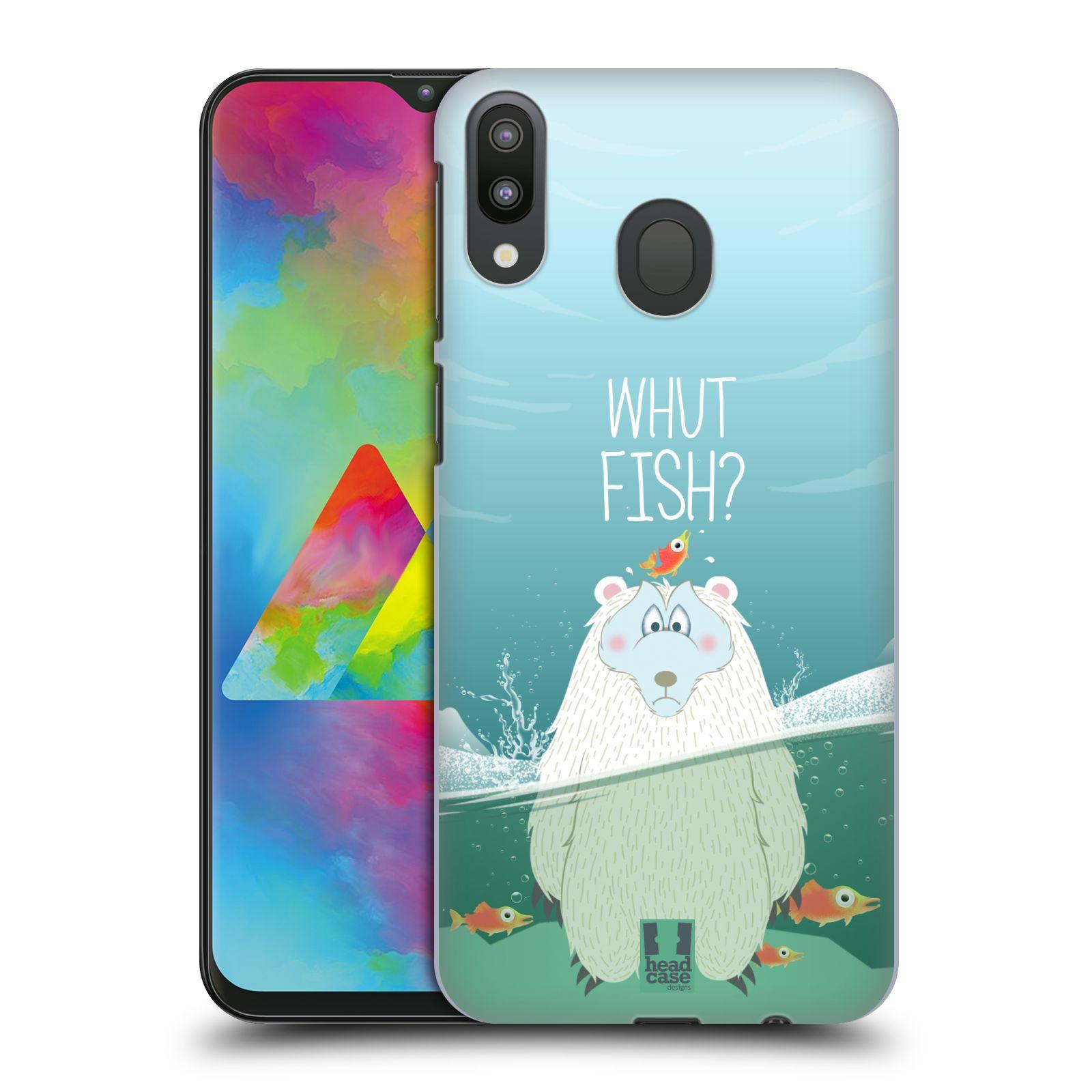 Plastové pouzdro na mobil Samsung Galaxy M20 - Head Case - Medvěd Whut Fish?
