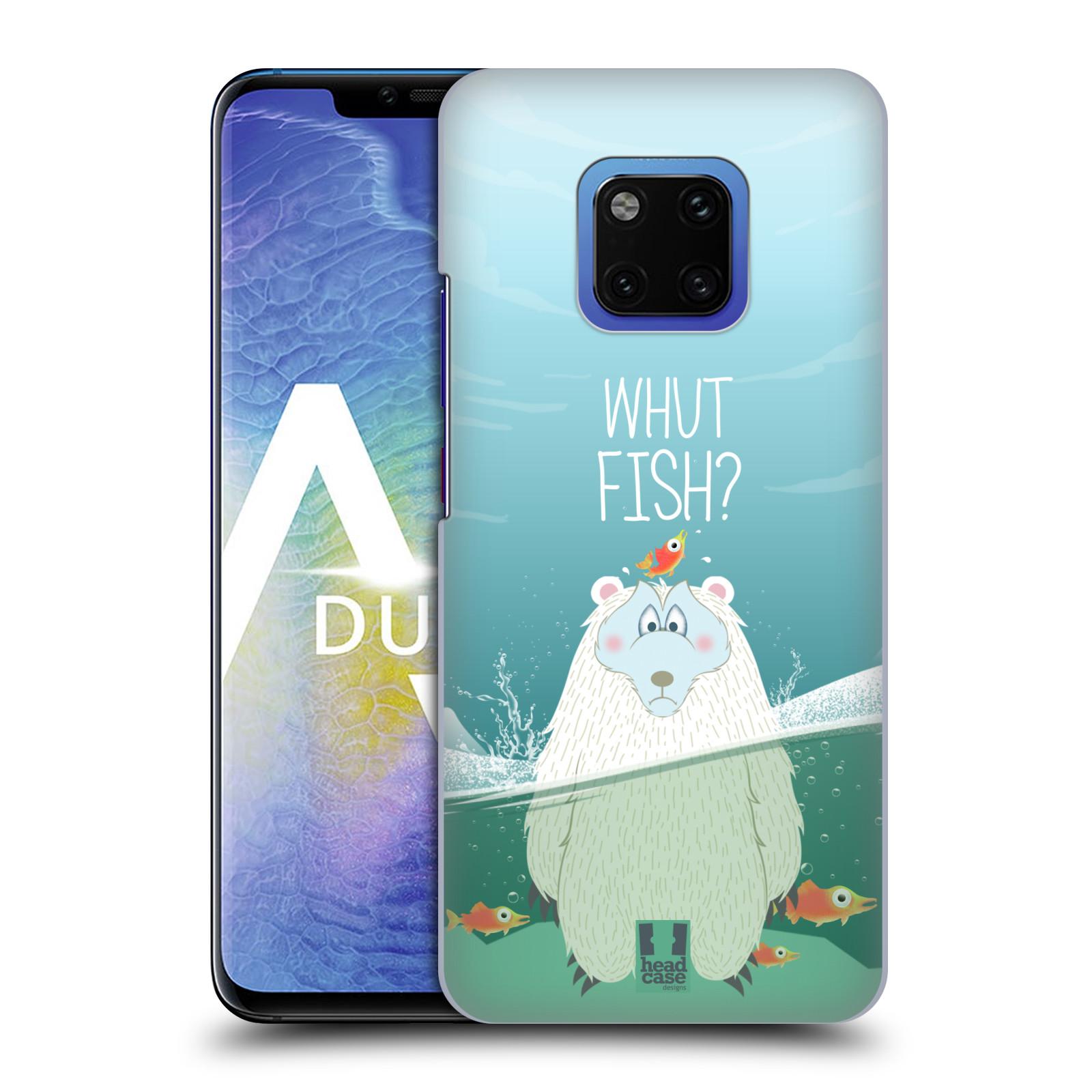 Plastové pouzdro na mobil Huawei Mate 20 Pro - Head Case - Medvěd Whut Fish?