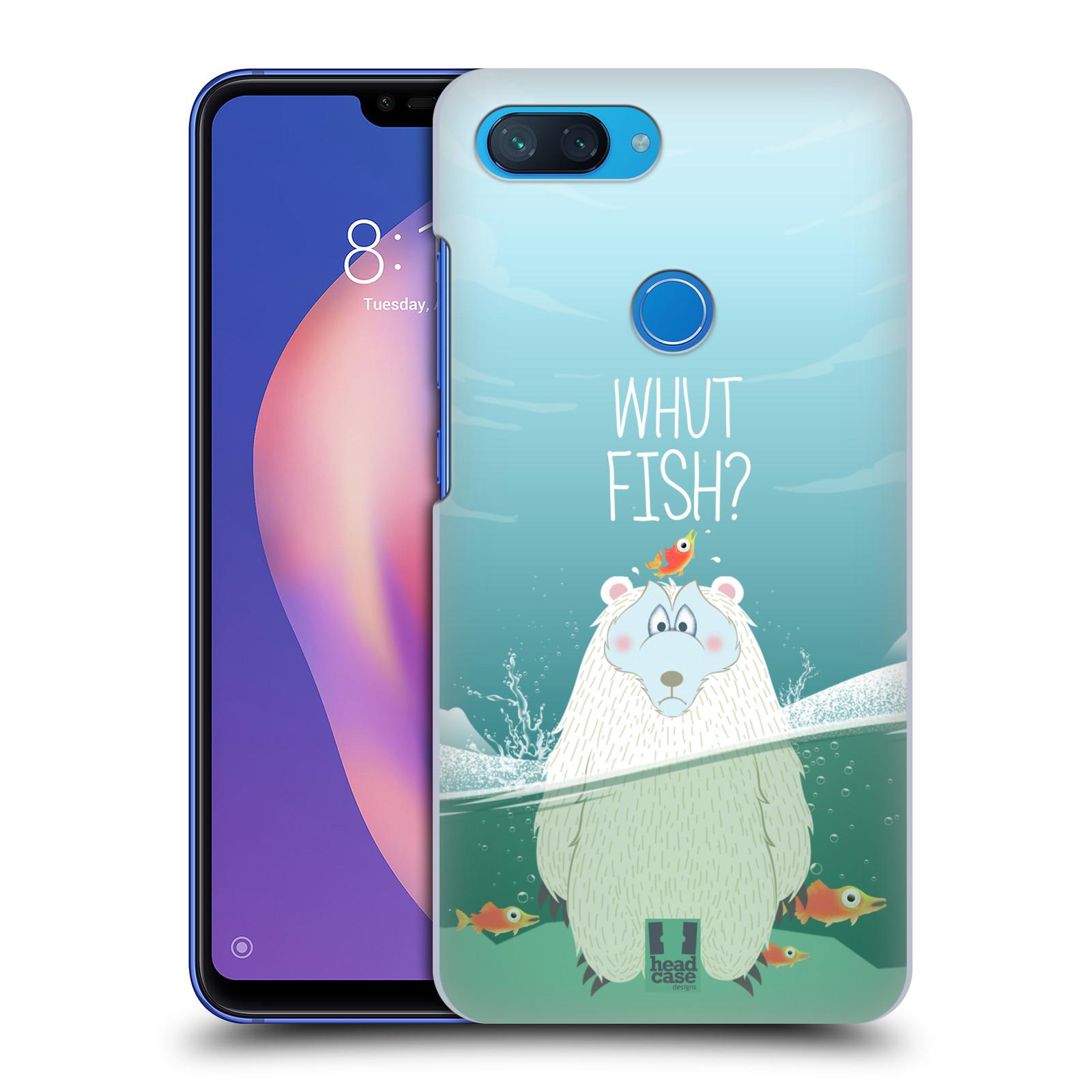 Plastové pouzdro na mobil Xiaomi Mi 8 Lite - Head Case - Medvěd Whut Fish?