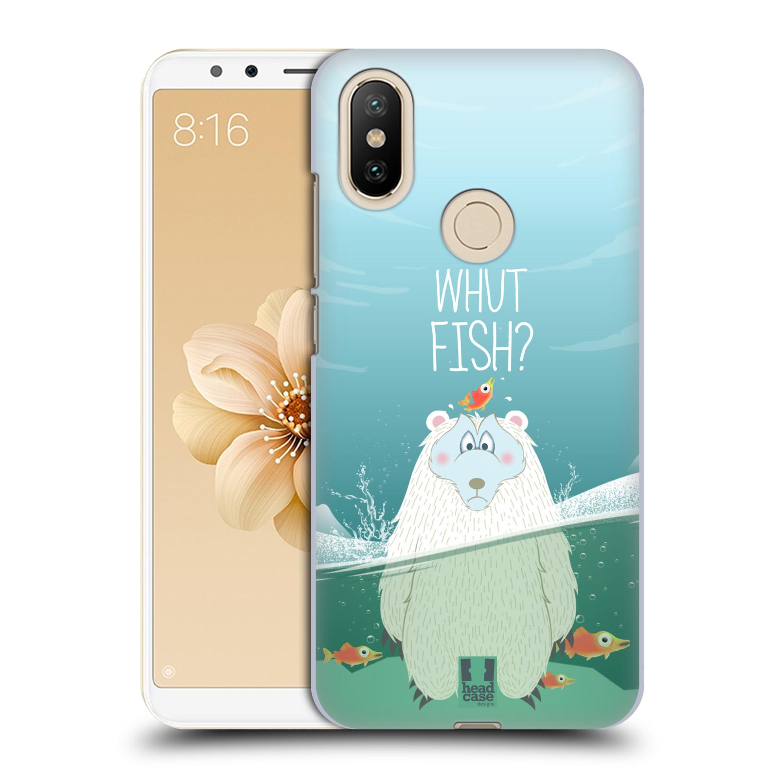 Plastové pouzdro na mobil Xiaomi Mi A2 - Head Case - Medvěd Whut Fish?