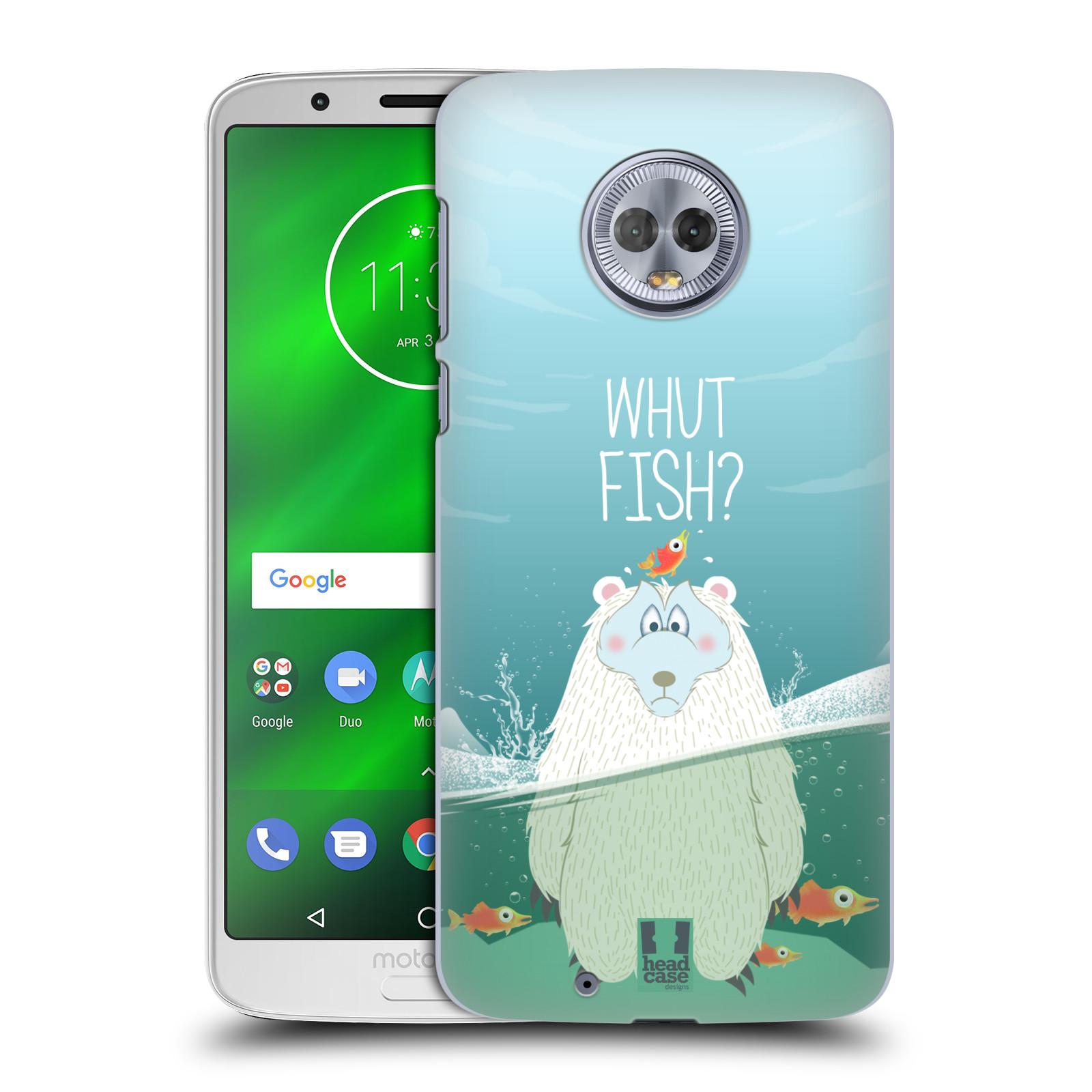 Plastové pouzdro na mobil Motorola Moto G6 - Head Case - Medvěd Whut Fish?