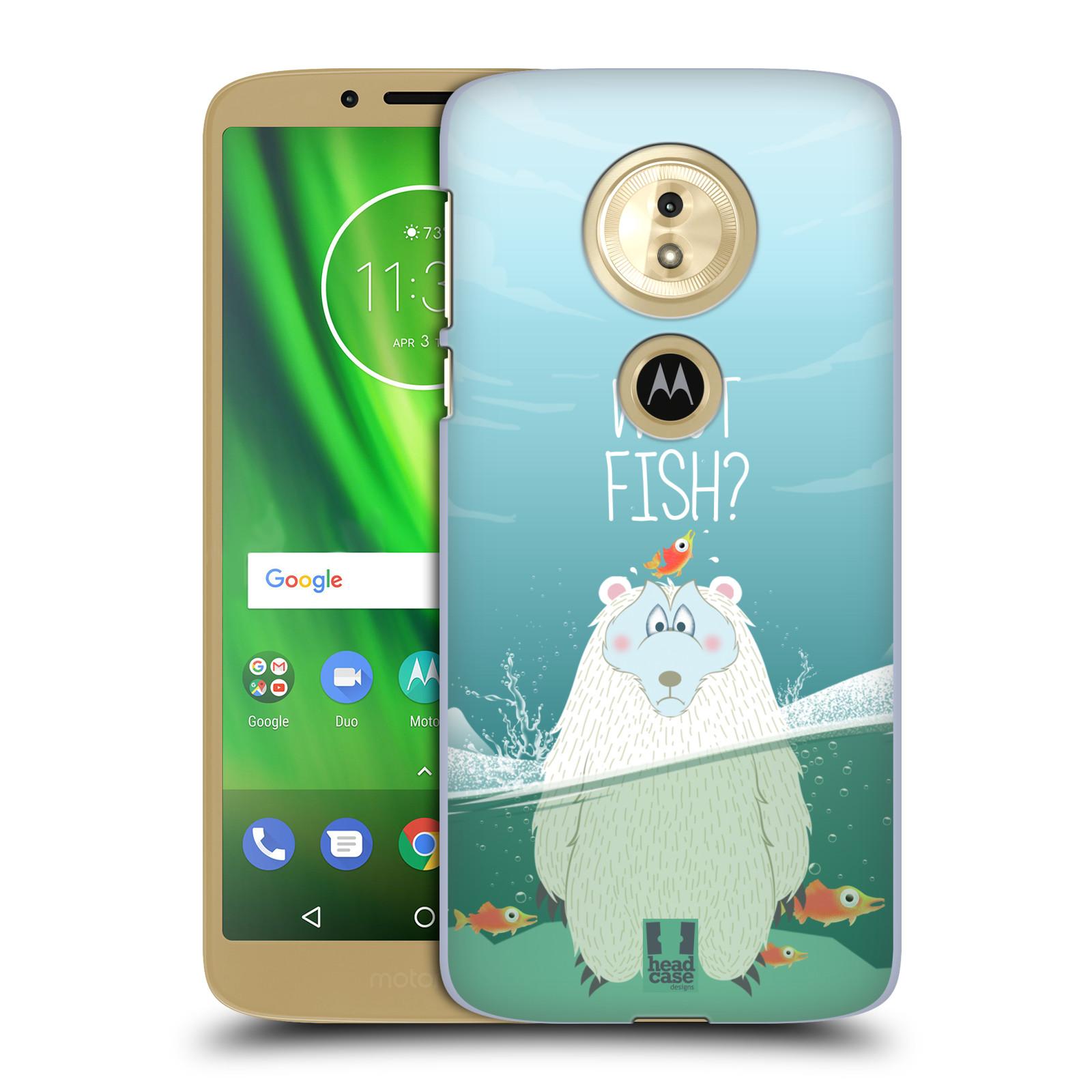 Plastové pouzdro na mobil Motorola Moto G6 Play - Head Case - Medvěd Whut Fish?