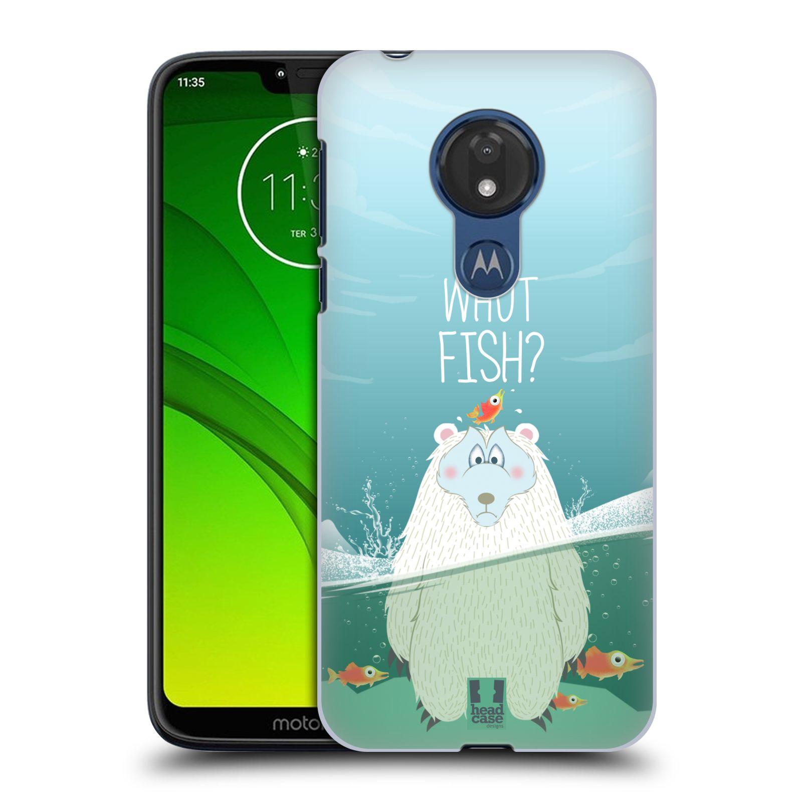 Plastové pouzdro na mobil Motorola Moto G7 Power - Head Case - Medvěd Whut Fish?