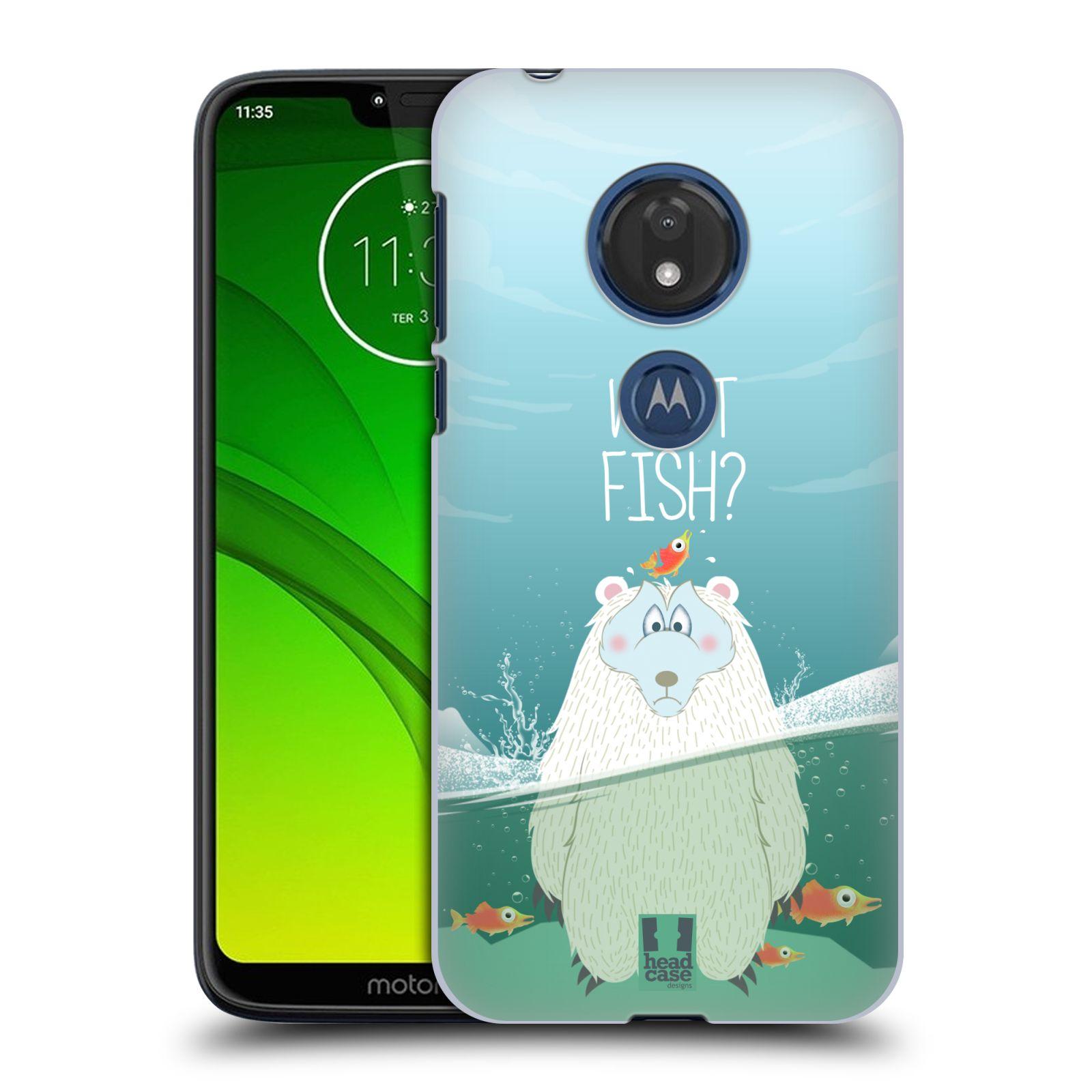 Plastové pouzdro na mobil Motorola Moto G7 Play - Head Case - Medvěd Whut Fish?