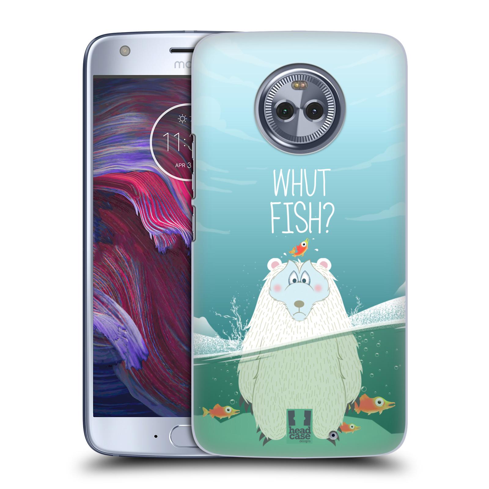 Plastové pouzdro na mobil Lenovo Moto X4 - Head Case - Medvěd Whut Fish?