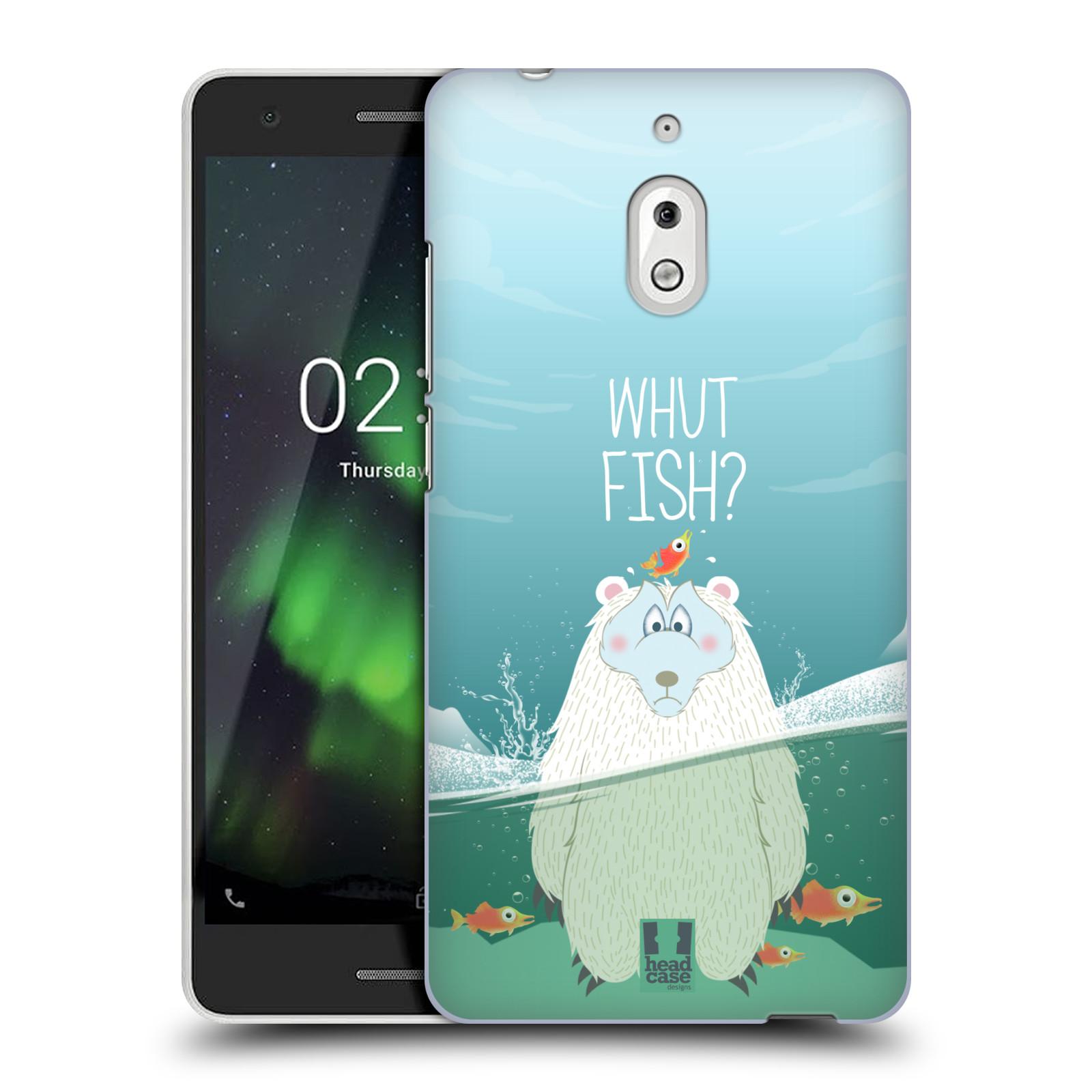 Plastové pouzdro na mobil Nokia 2.1 - Head Case - Medvěd Whut Fish?