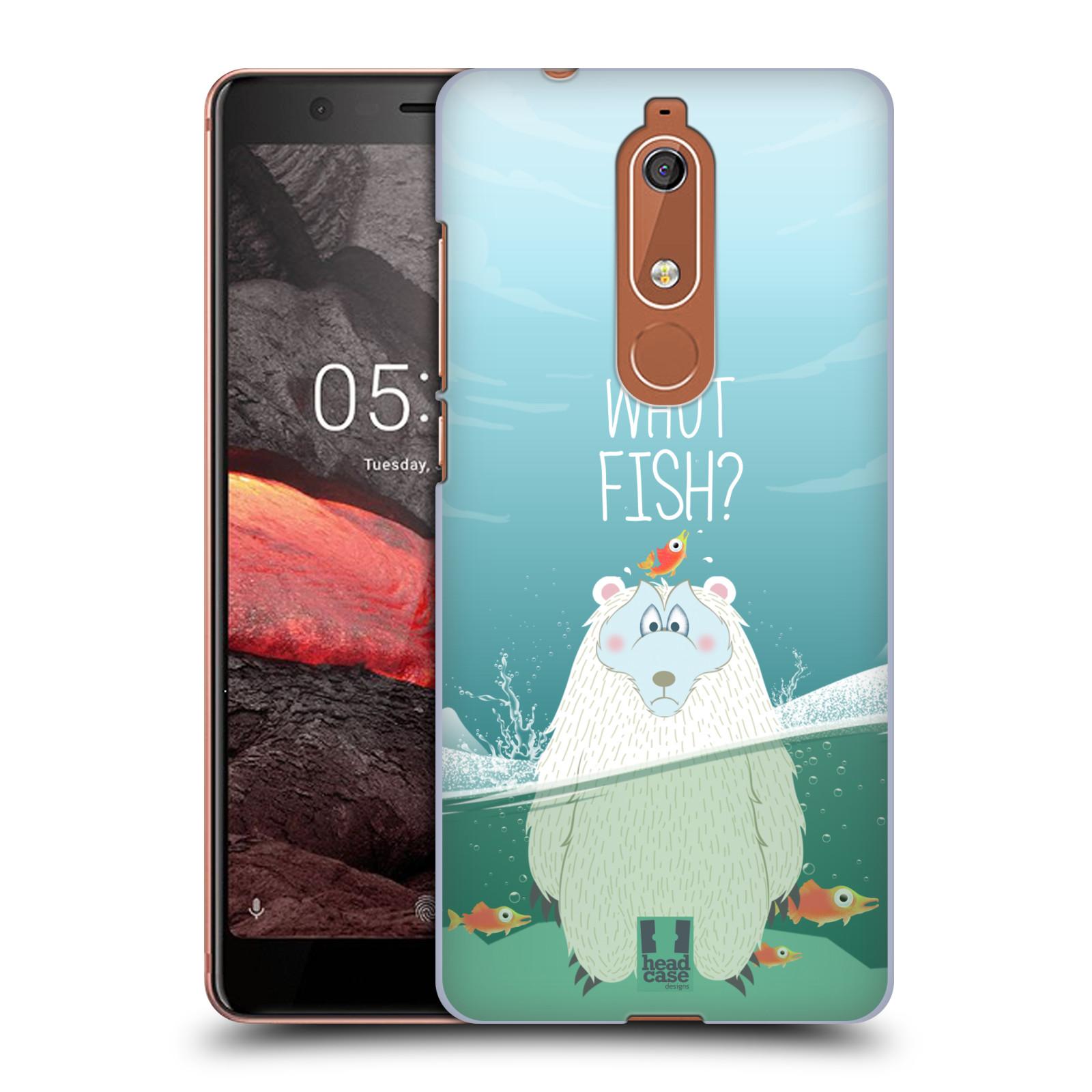 Plastové pouzdro na mobil Nokia 5.1 - Head Case - Medvěd Whut Fish?