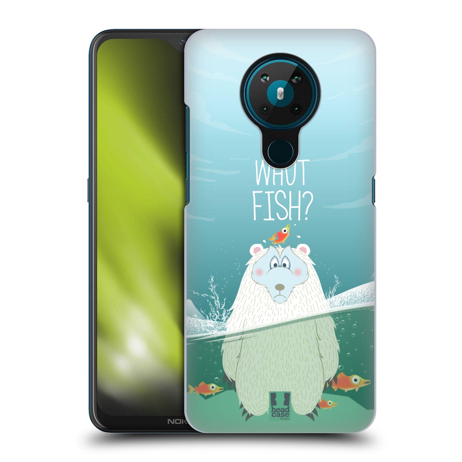 Plastové pouzdro na mobil Nokia 5.3 - Head Case - Medvěd Whut Fish?