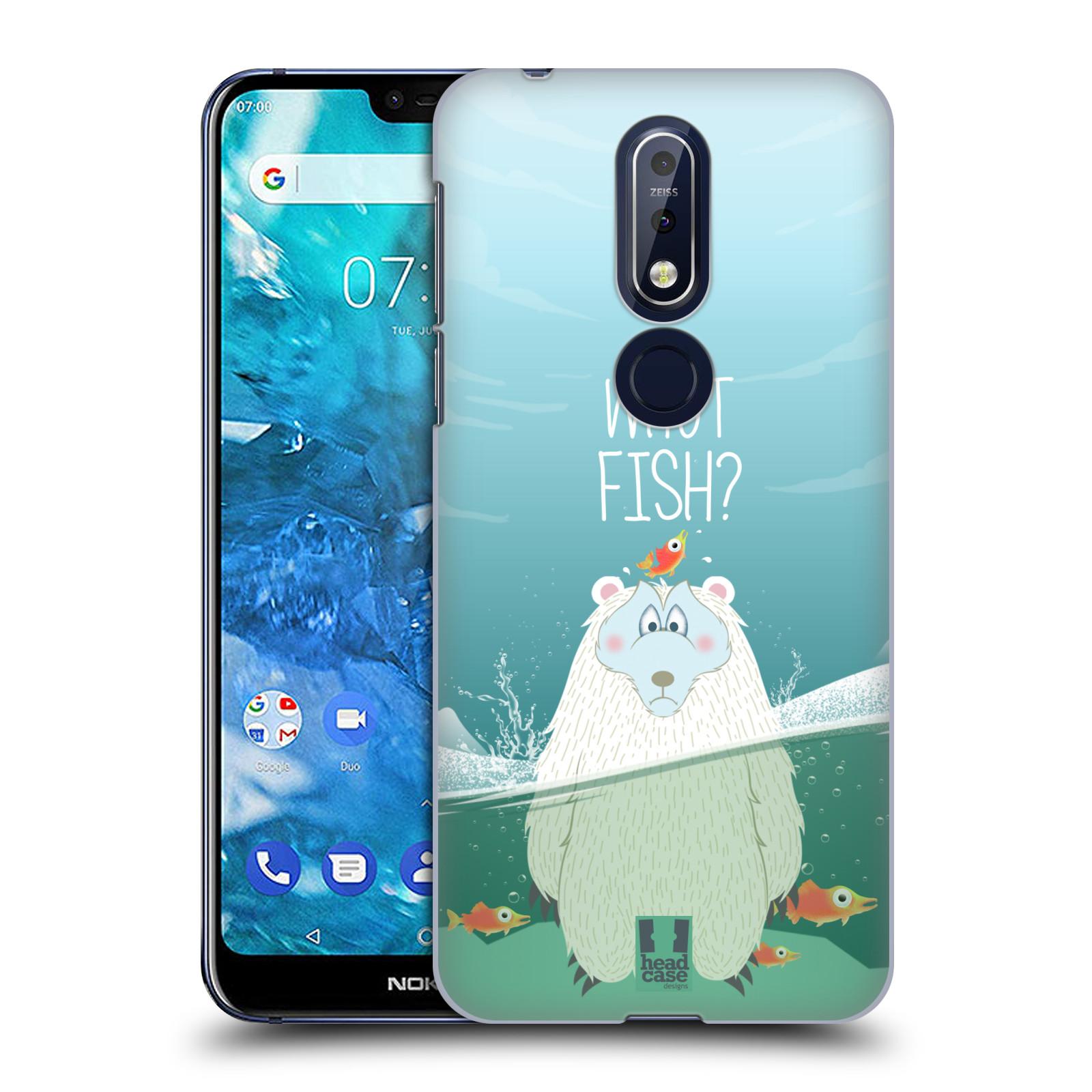 Plastové pouzdro na mobil Nokia 7.1 - Head Case - Medvěd Whut Fish?