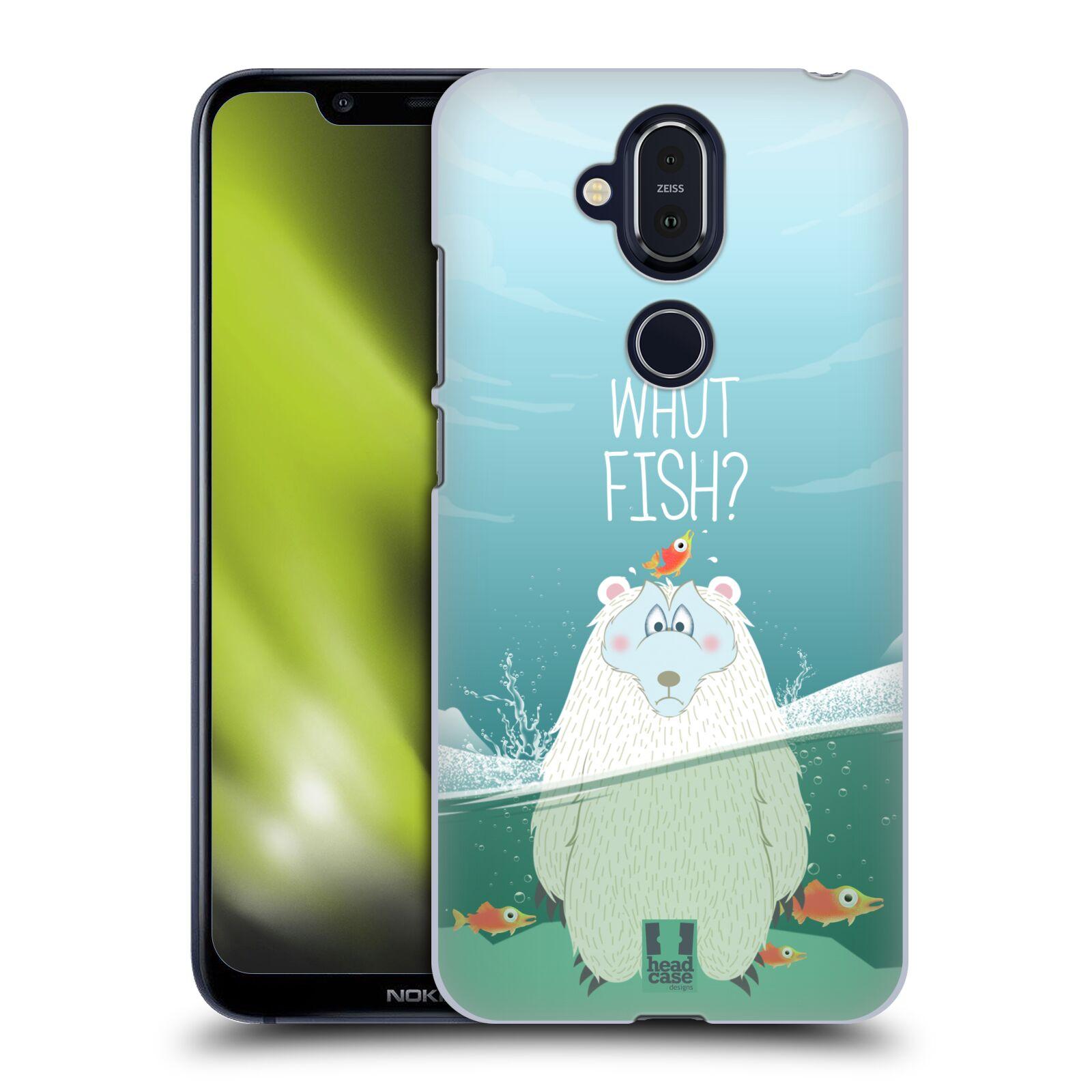 Plastové pouzdro na mobil Nokia 8.1 - Head Case - Medvěd Whut Fish?