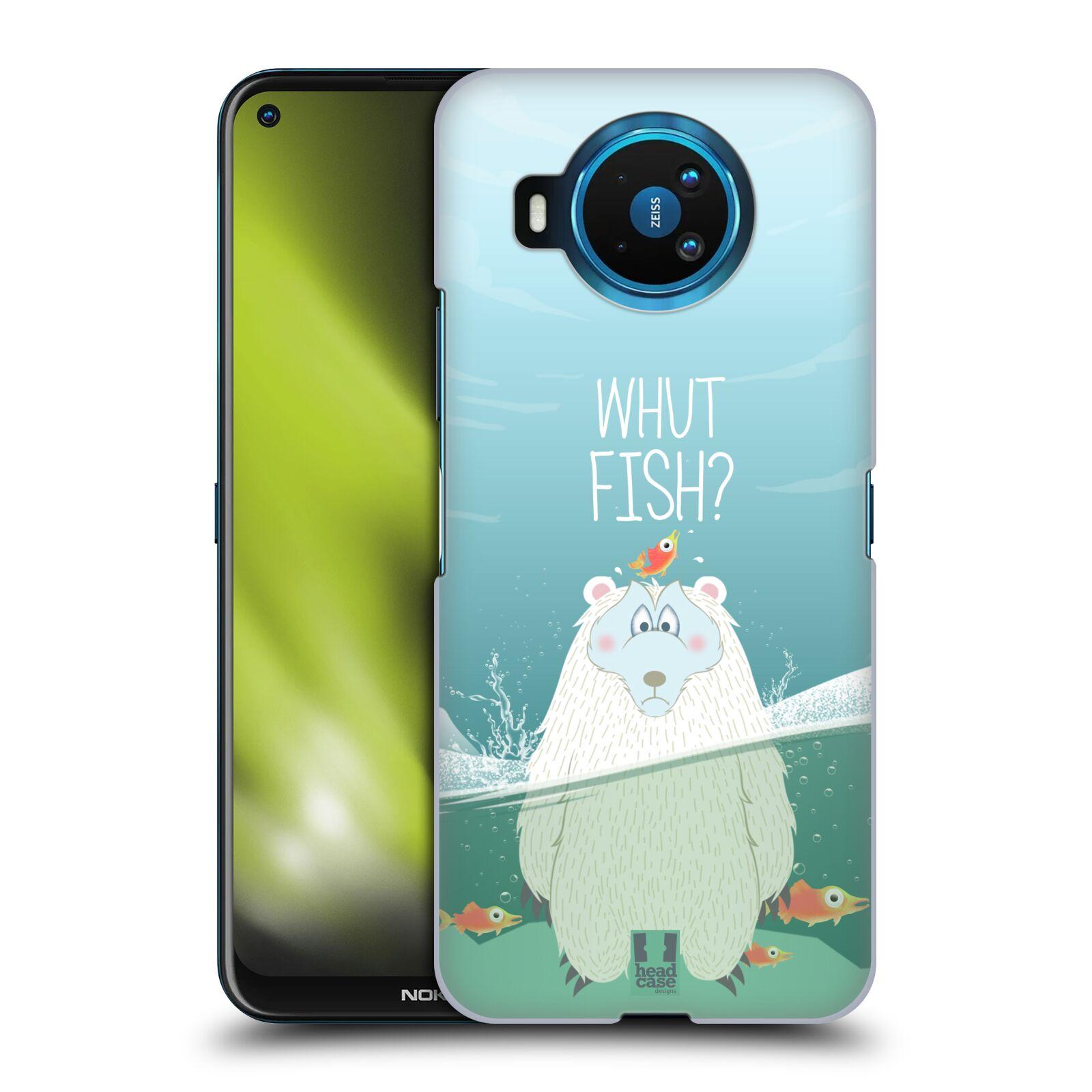 Plastové pouzdro na mobil Nokia 8.3 5G - Head Case - Medvěd Whut Fish?