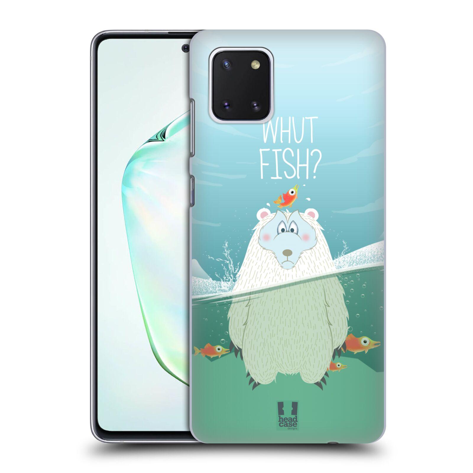 Plastové pouzdro na mobil Samsung Galaxy Note 10 Lite - Head Case - Medvěd Whut Fish?