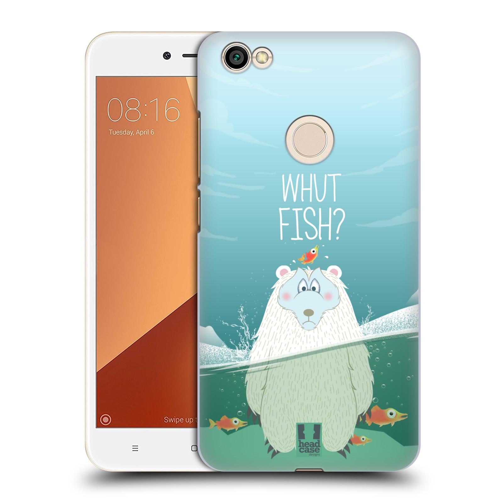 Plastové pouzdro na mobil Xiaomi Redmi Note 5A Prime - Head Case - Medvěd Whut Fish?